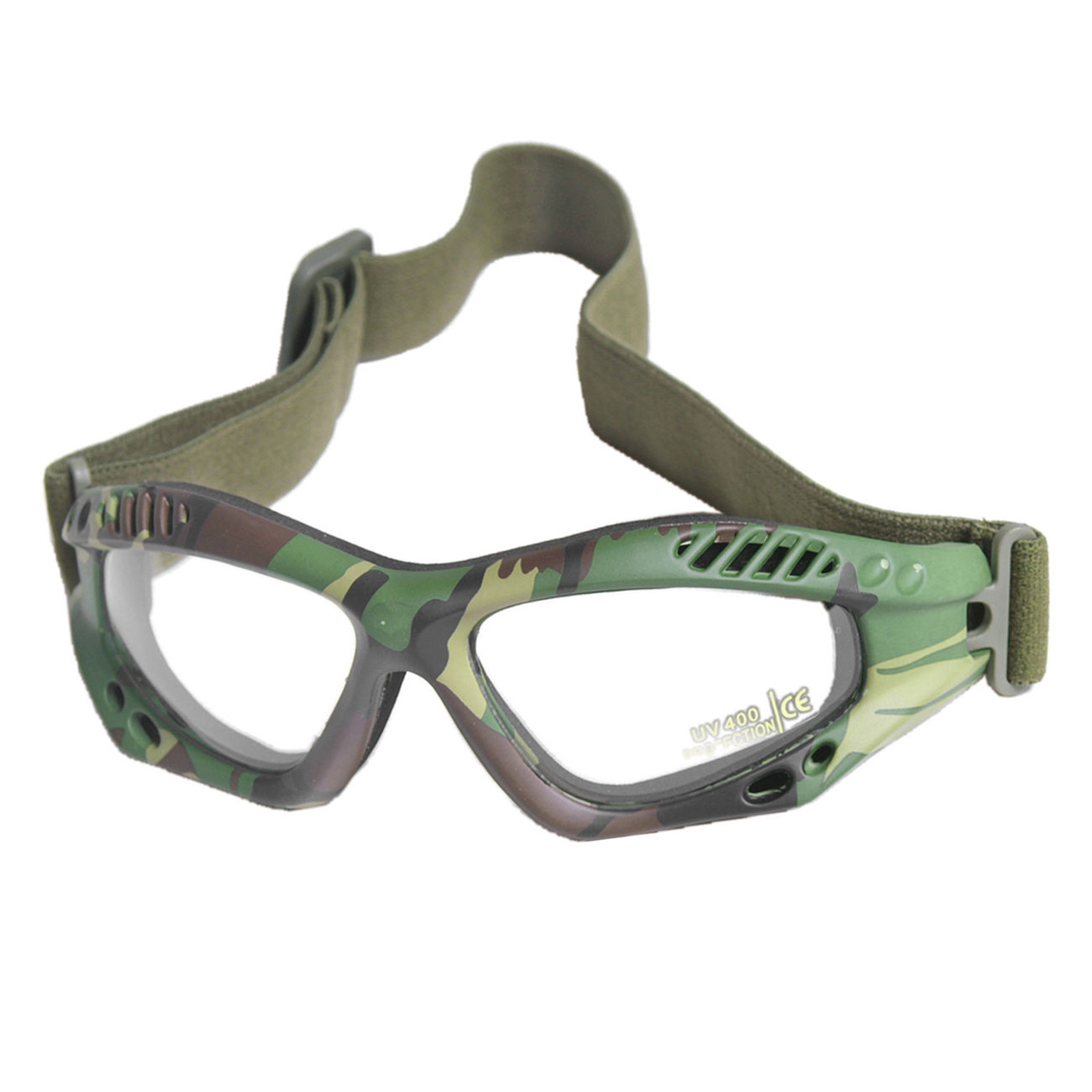 Mil-Tec Brille Commando Air-Pro klar woodland 0