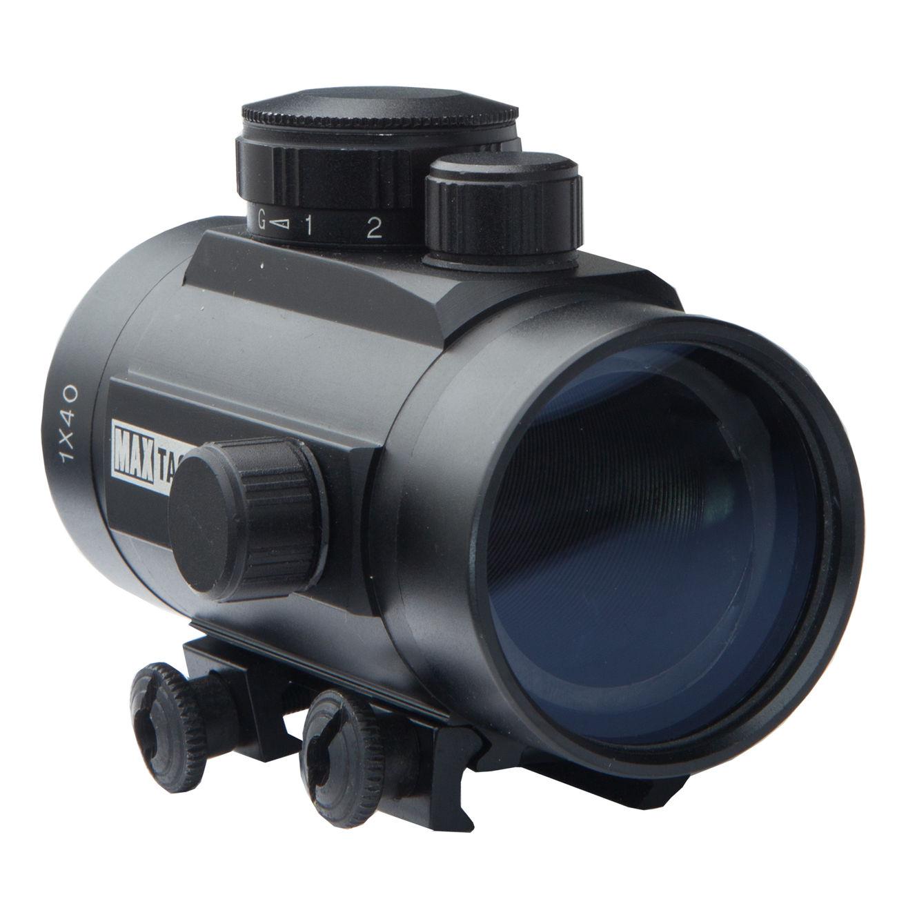 Max Tactical Leuchtpunktzielgerät 1x40 Red Dot für 22 mm Schiene