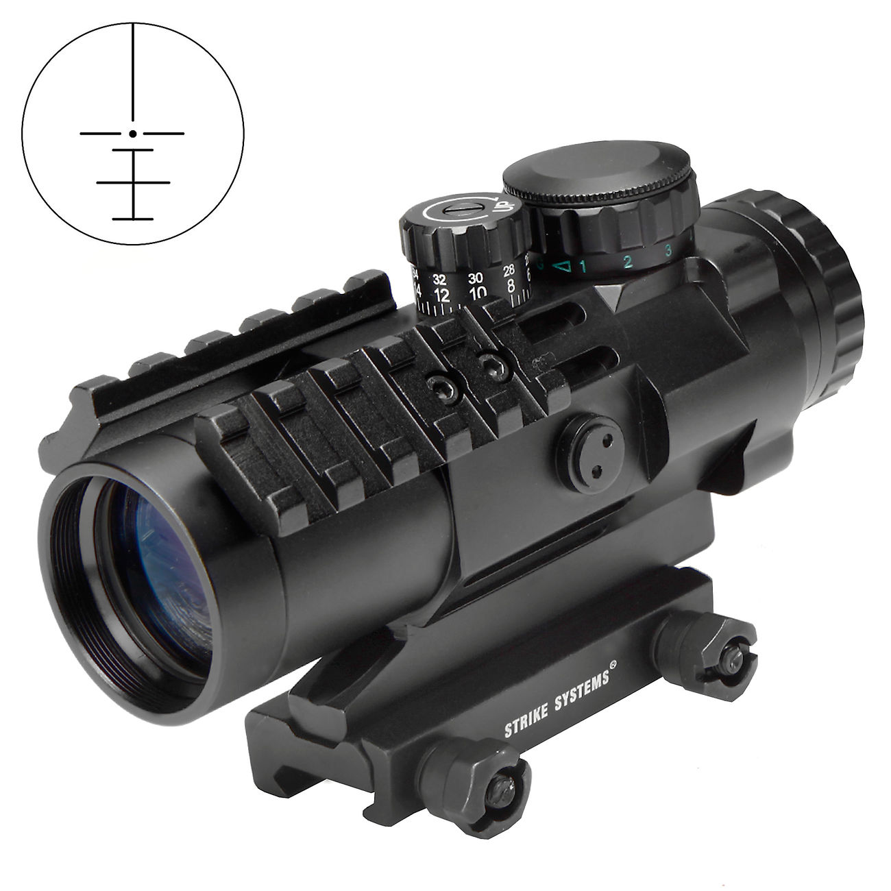 Strike Systems Tactical Red-/Green-Dot Scope mit Zusatzschienen 3x32mm schwarz 0