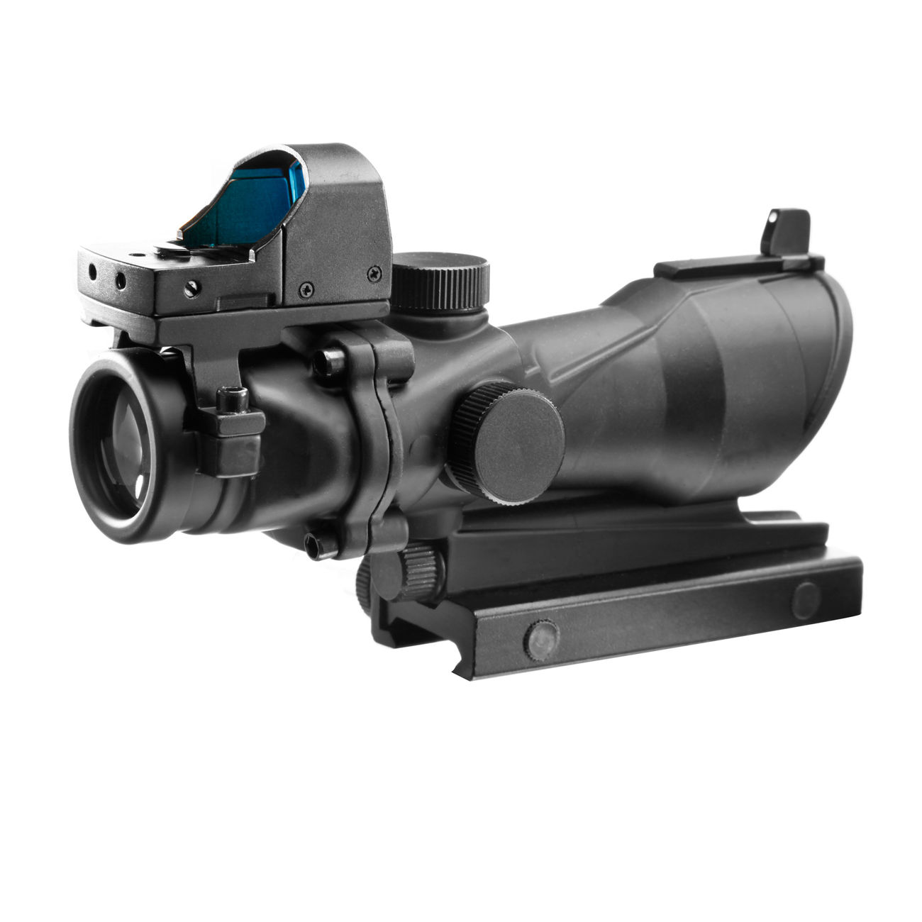 Aim-O TA01 Style Scope 4x32 beleuchtet mit Mini Red Dot schwarz AO 5320-BK 1