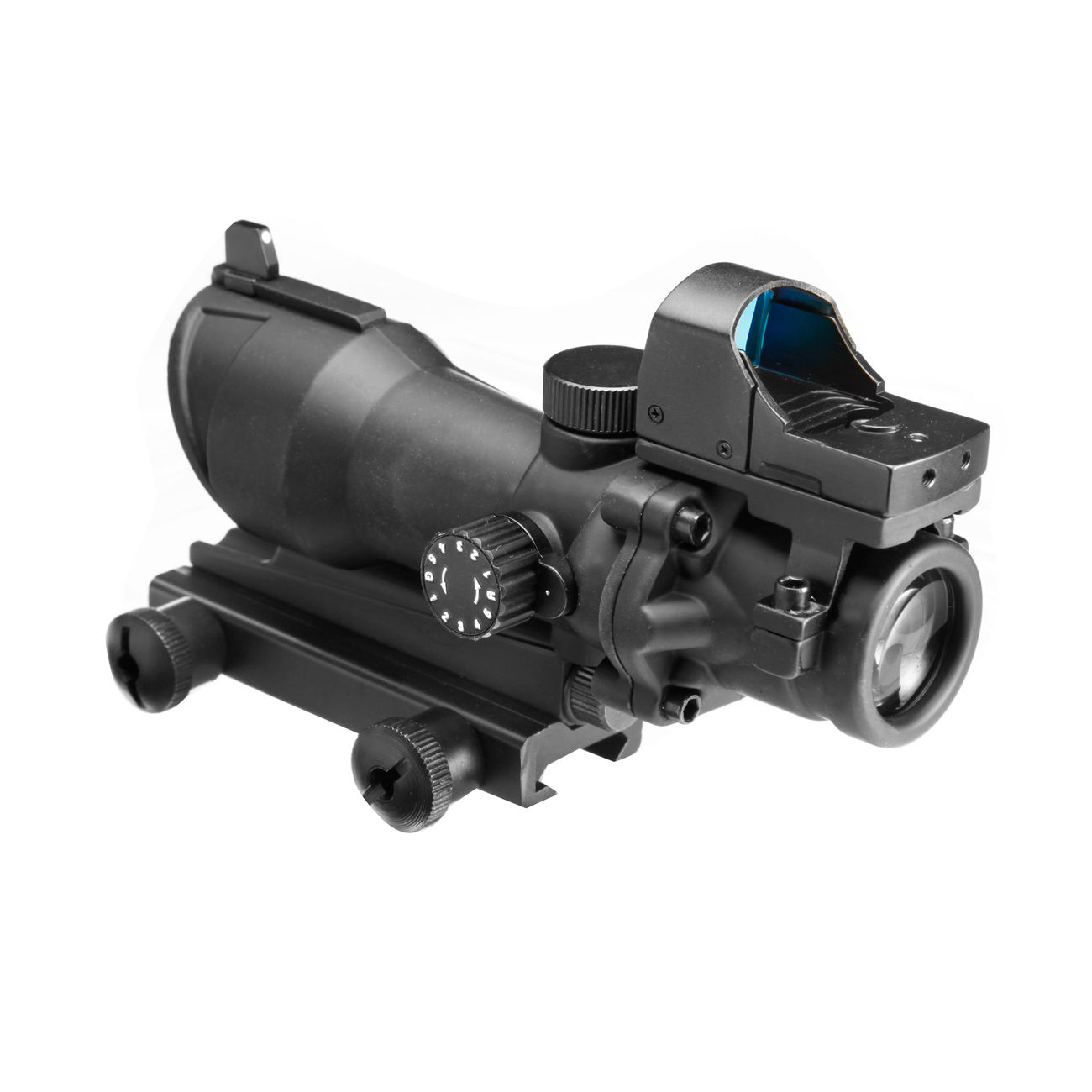 Aim-O TA01 Style Scope 4x32 beleuchtet mit Mini Red Dot schwarz AO 5320-BK 2
