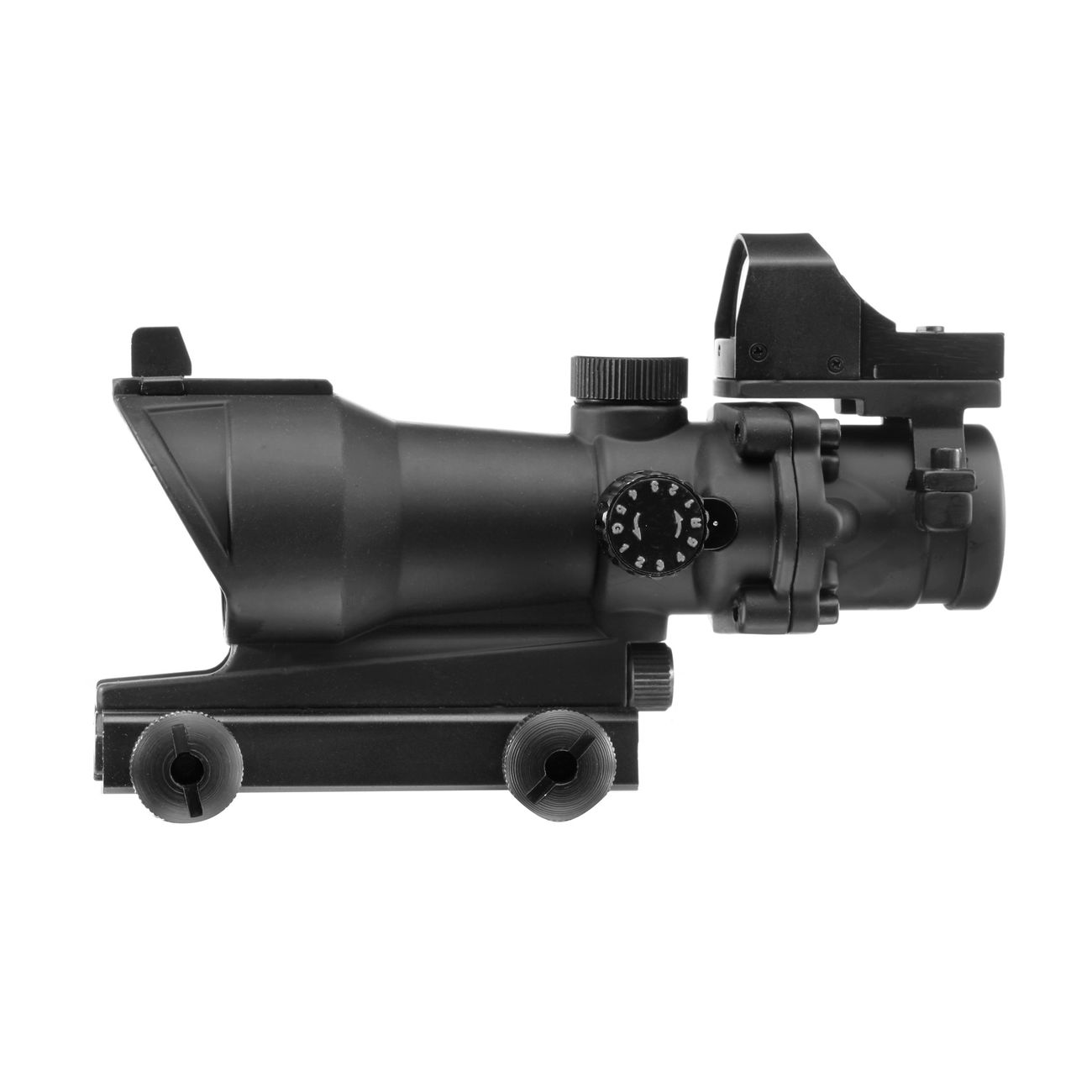 Aim-O TA01 Style Scope 4x32 beleuchtet mit Mini Red Dot schwarz AO 5320-BK 3