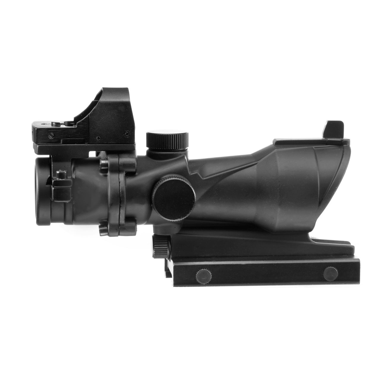 Aim-O TA01 Style Scope 4x32 beleuchtet mit Mini Red Dot schwarz AO 5320-BK 4