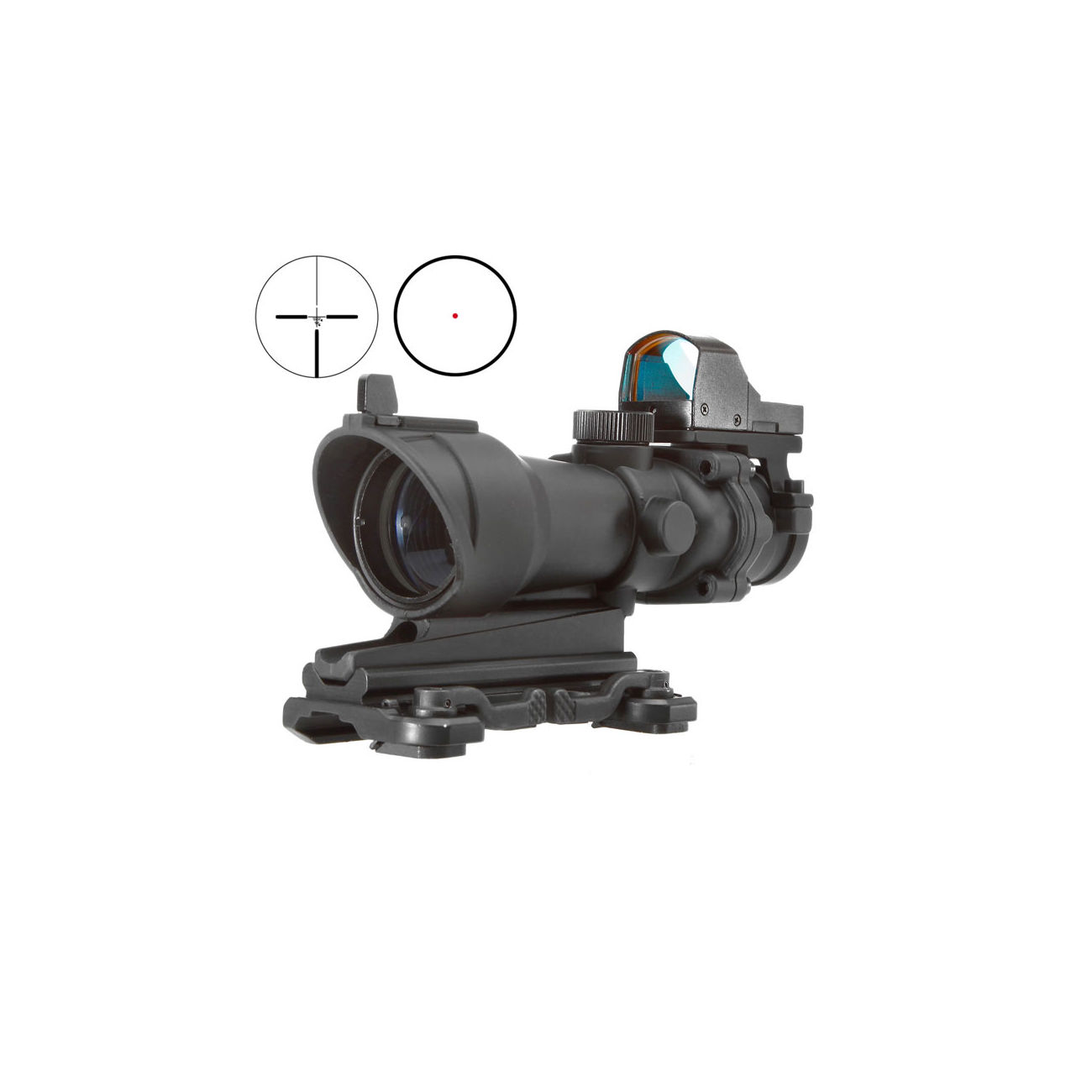 Aim-O TA01 Style Scope 4x32 QD-Mount mit Mini RedDot Visier schwarz 5316-BK 0