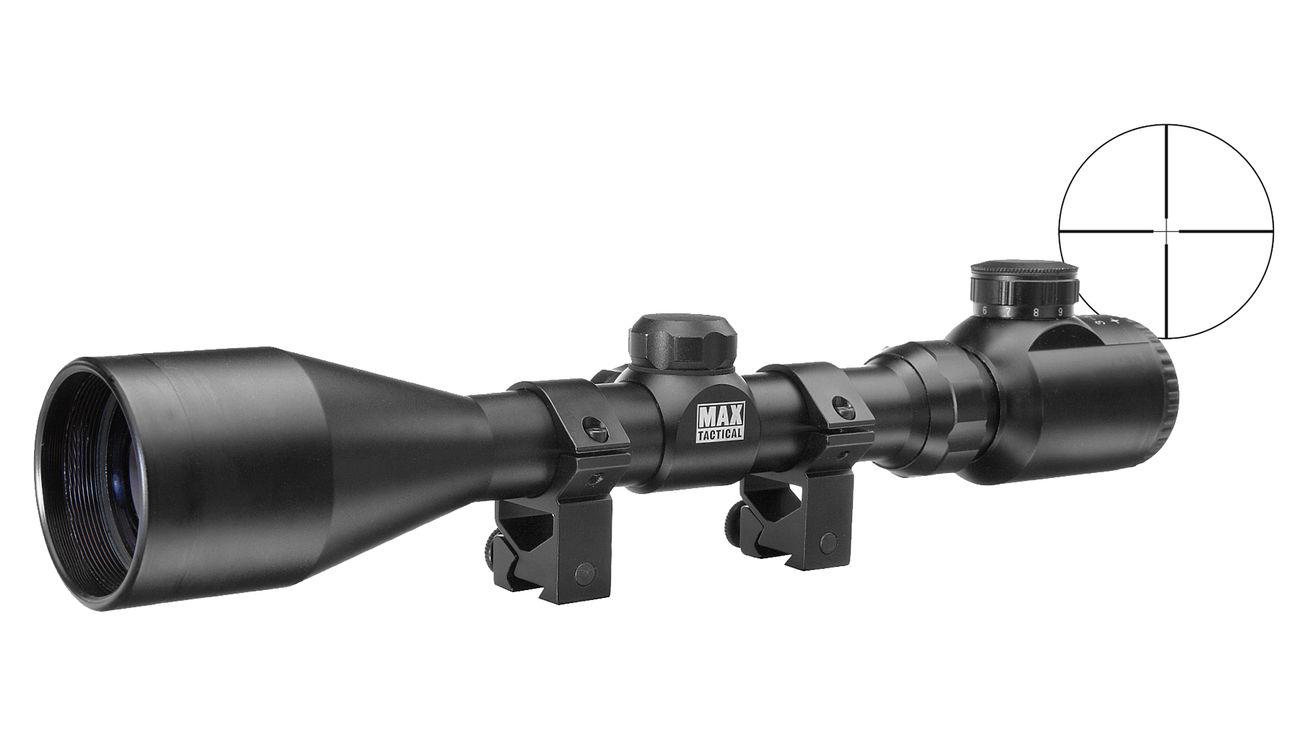 Max tactical zielfernrohr 3 12x42e beleuchtet inkl. ringe für 11 mm