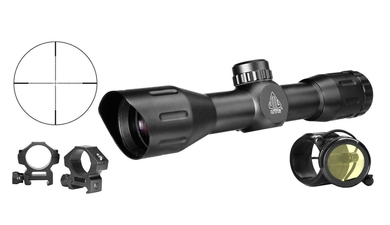 Utg compact cqb 4x32 zielfernrohr mil dot inkl. 21mm montageringe