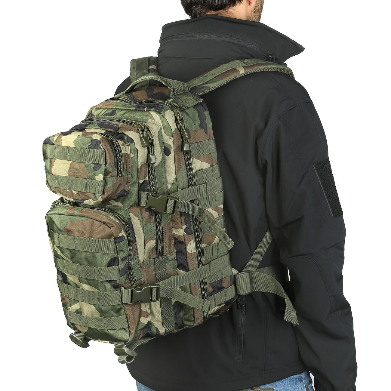 Mil-Tec Rucksack US Assault Pack I 20 Liter woodland 10