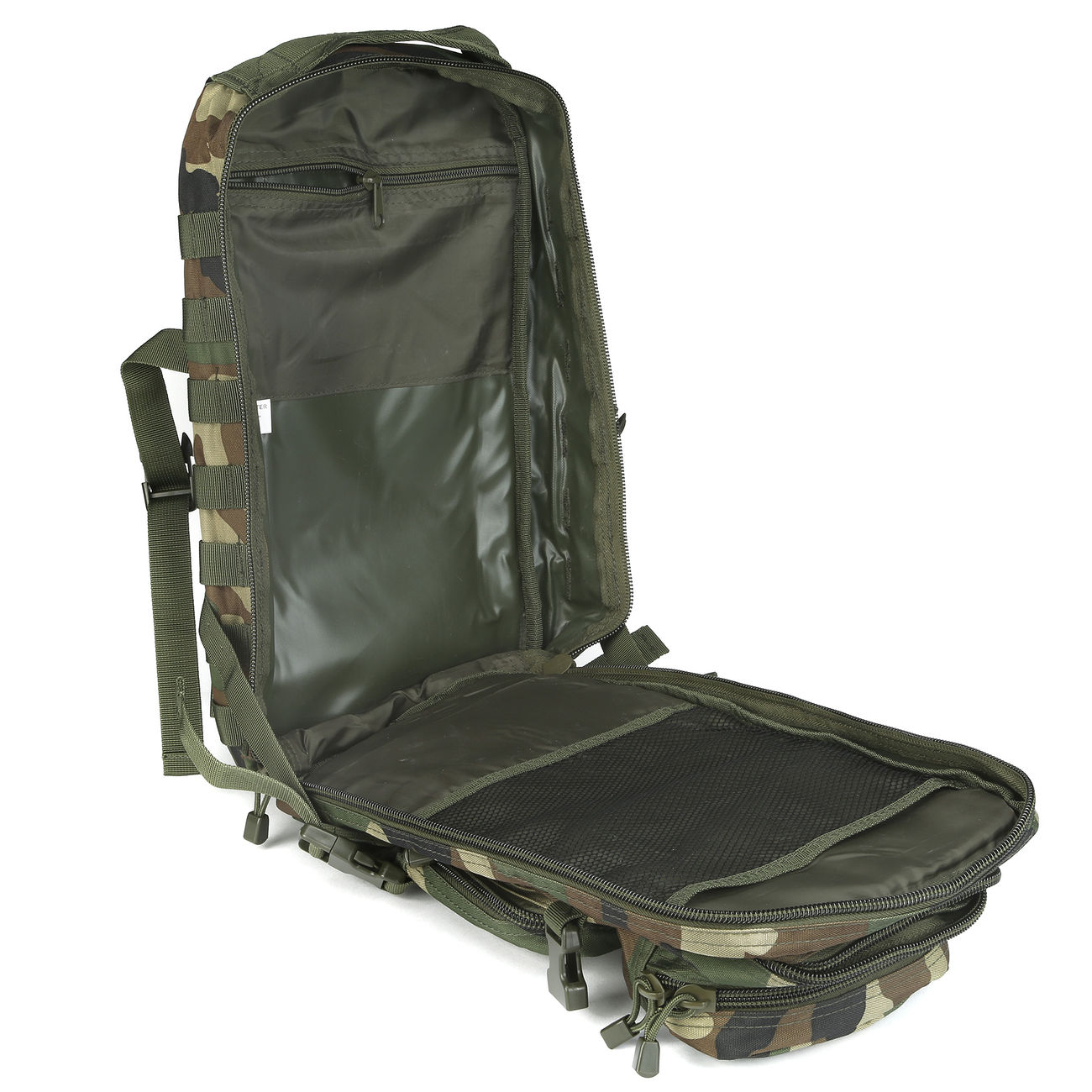 Mil-Tec Rucksack US Assault Pack I 20 Liter woodland 11