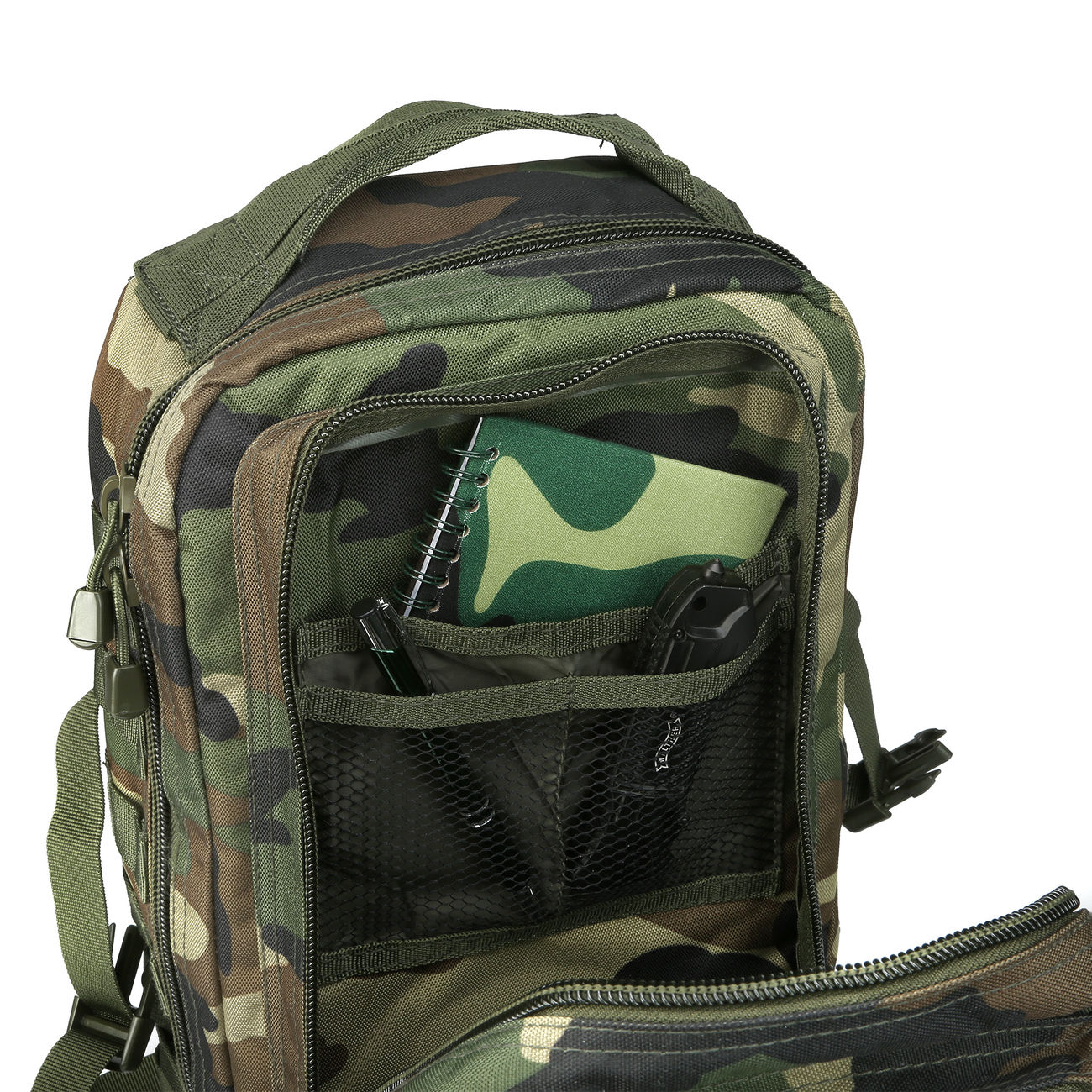 Mil-Tec Rucksack US Assault Pack I 20 Liter woodland 7