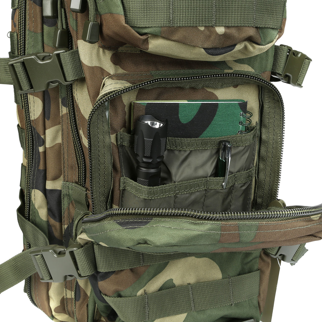 Mil-Tec Rucksack US Assault Pack I 20 Liter woodland 8