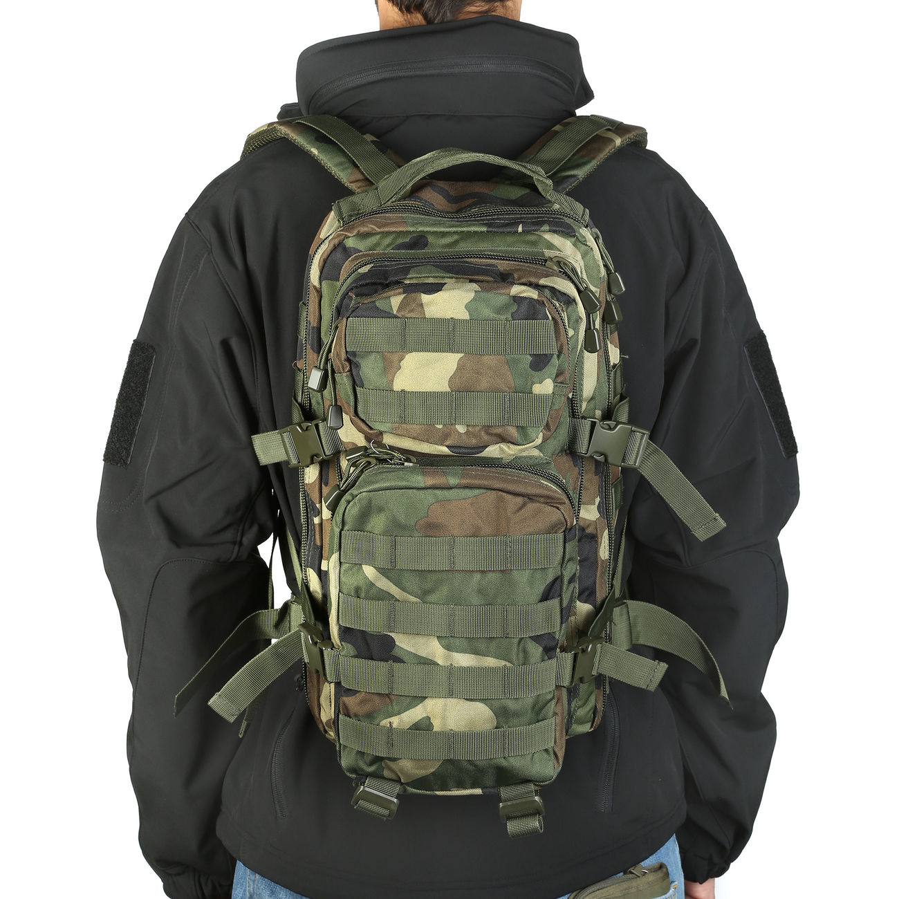 Mil-Tec Rucksack US Assault Pack I 20 Liter woodland 9
