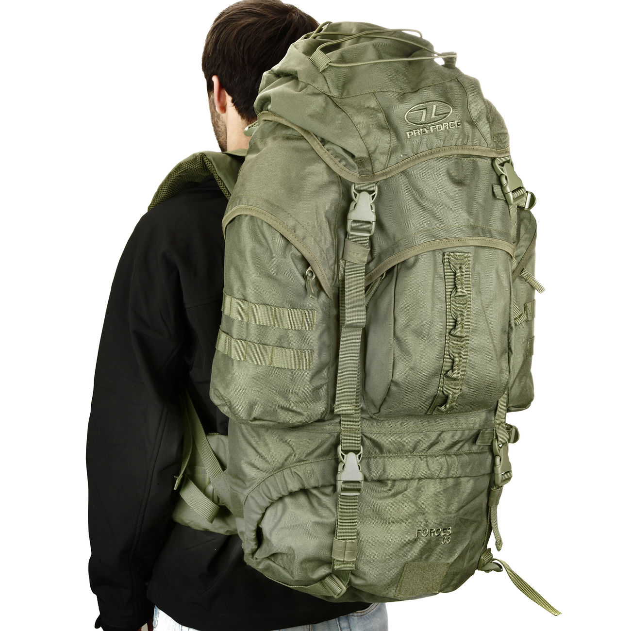 Highlander Rucksack Modell New Forces 66 Liter oliv 0