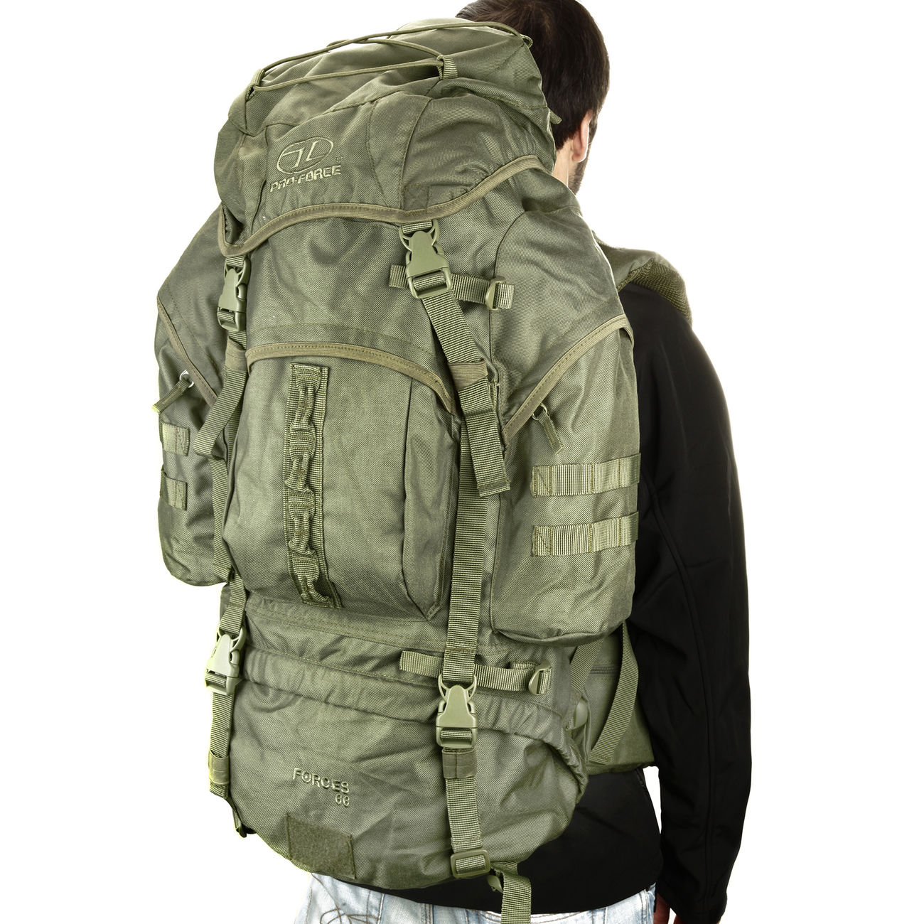 Highlander Rucksack Modell New Forces 66 Liter oliv 5