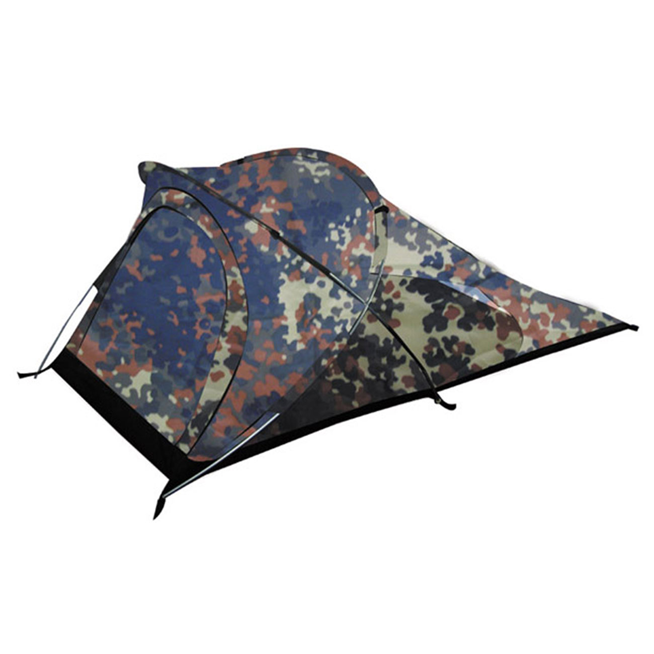 MFH Tunnelzelt Osser 1-Person flecktarn 1