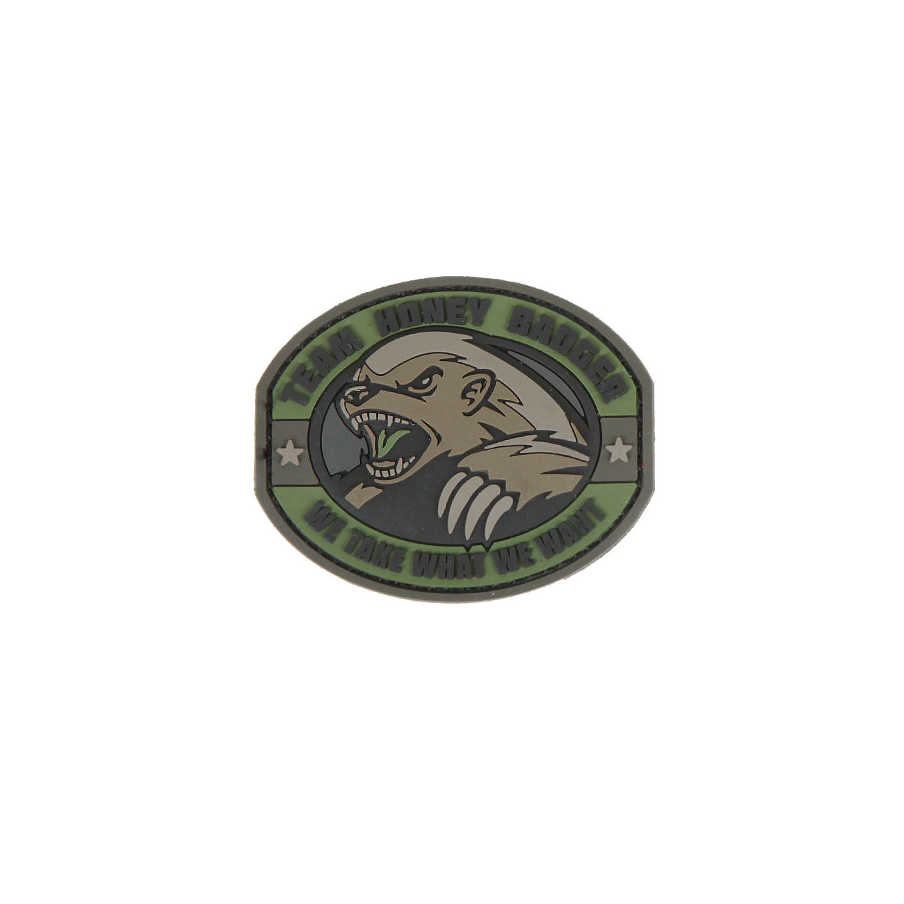 3D Rubber Patch Honey Badger Forest 0