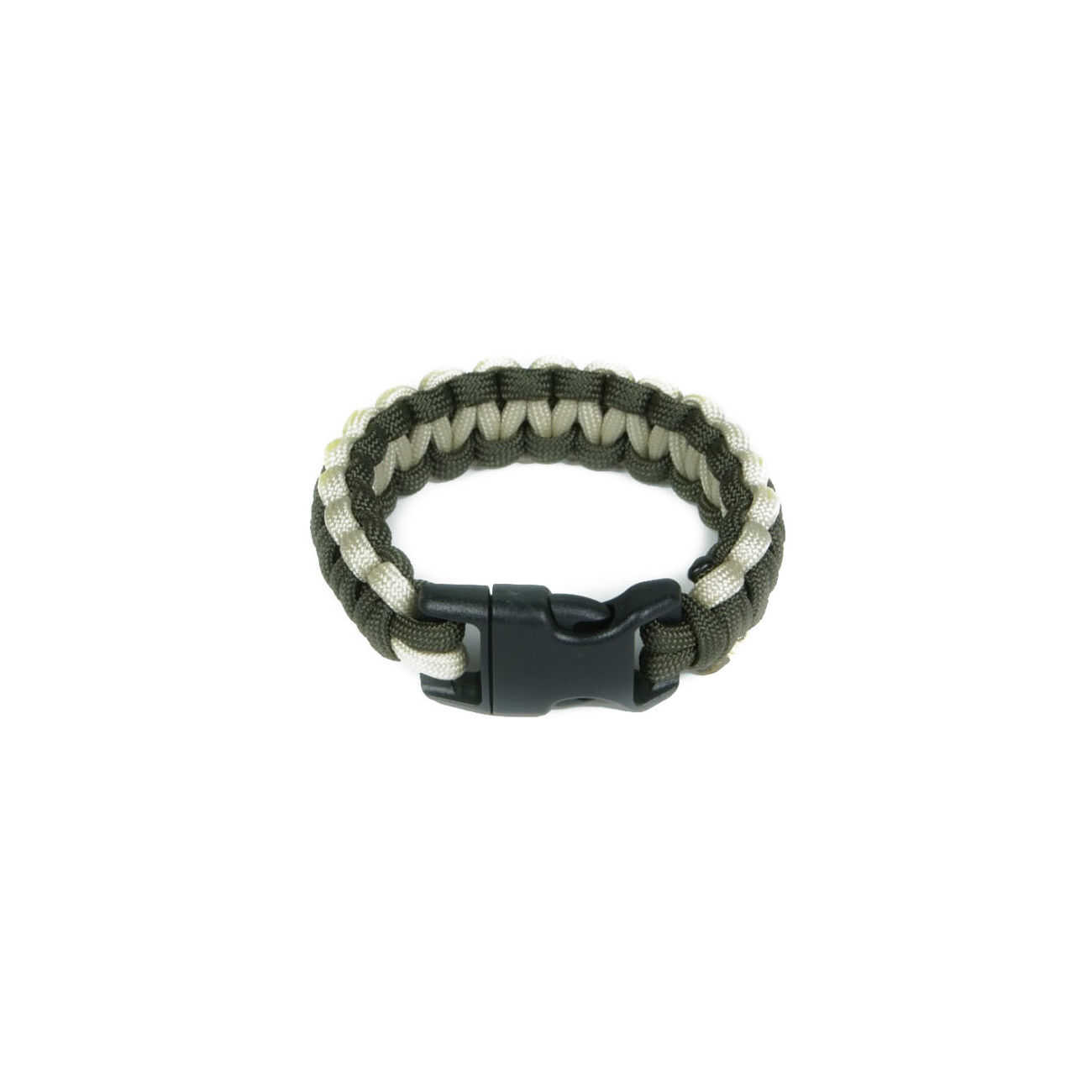 Mil-Spec Cords Cobra Paracord Bracelet oliv / tan 0