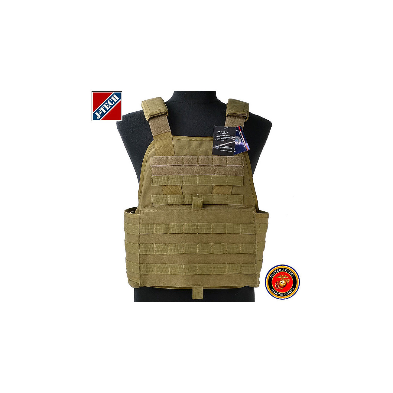 J-Tech USMC Aegis IV Outer Shell Plate Carrier coyote 0