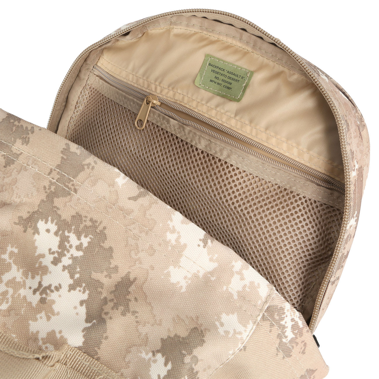 MFH Rucksack US Assault II vegetato desert 8