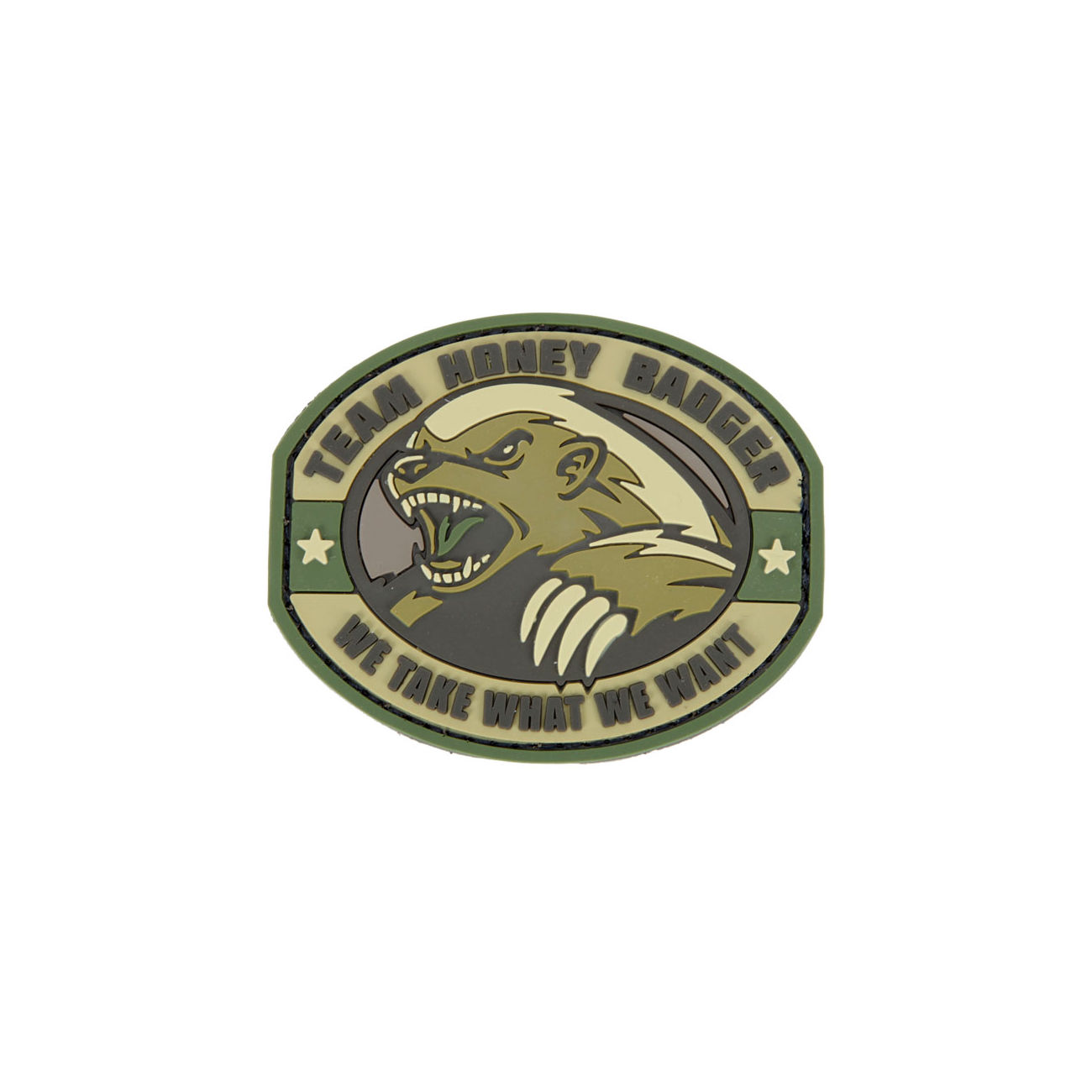3D Rubber Patch Honney Badger multicam 0