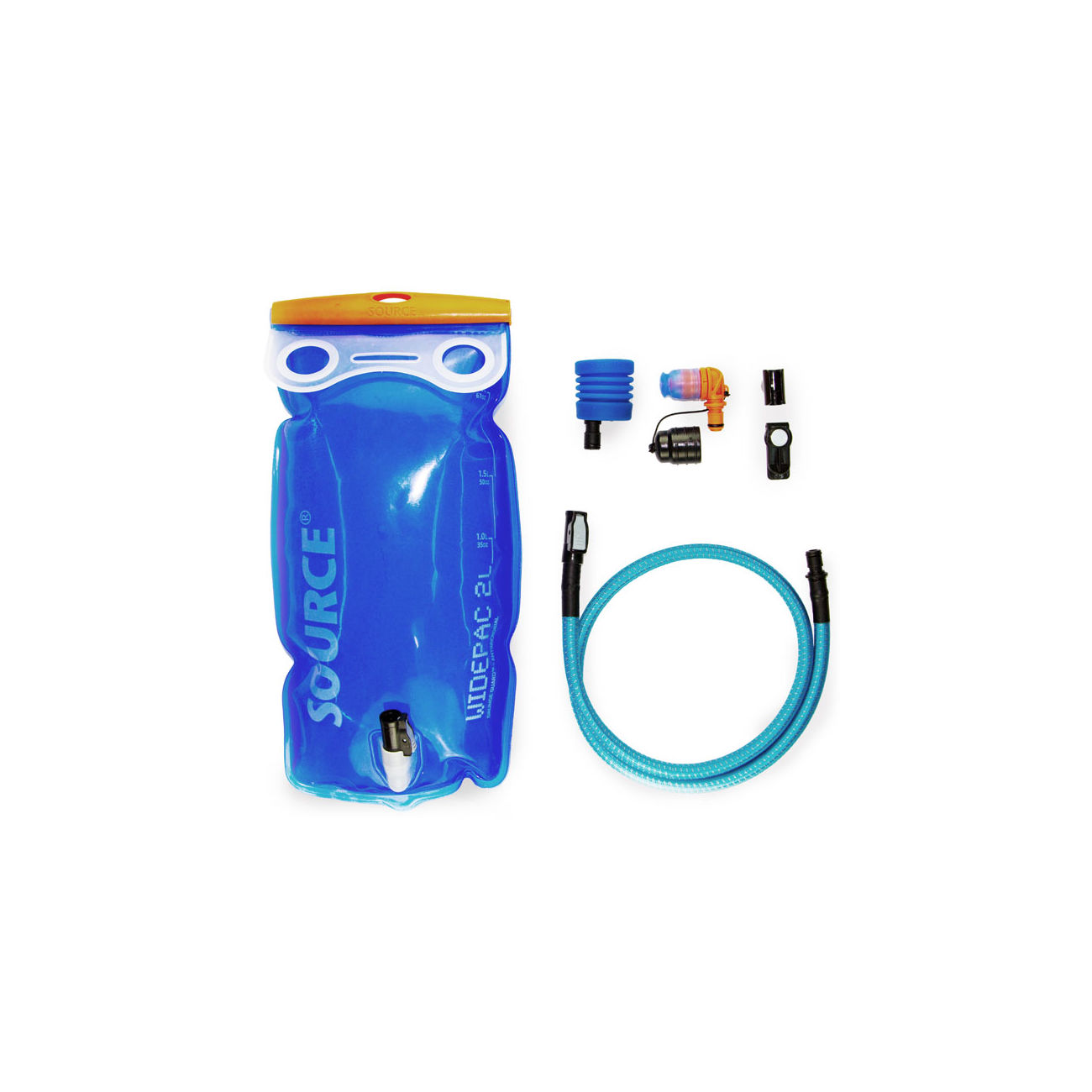 Source Trinksystem Ultimate Hydration System mit Widepac 2L, Helix Bite, UTA Adapter und Magnet Clip 0
