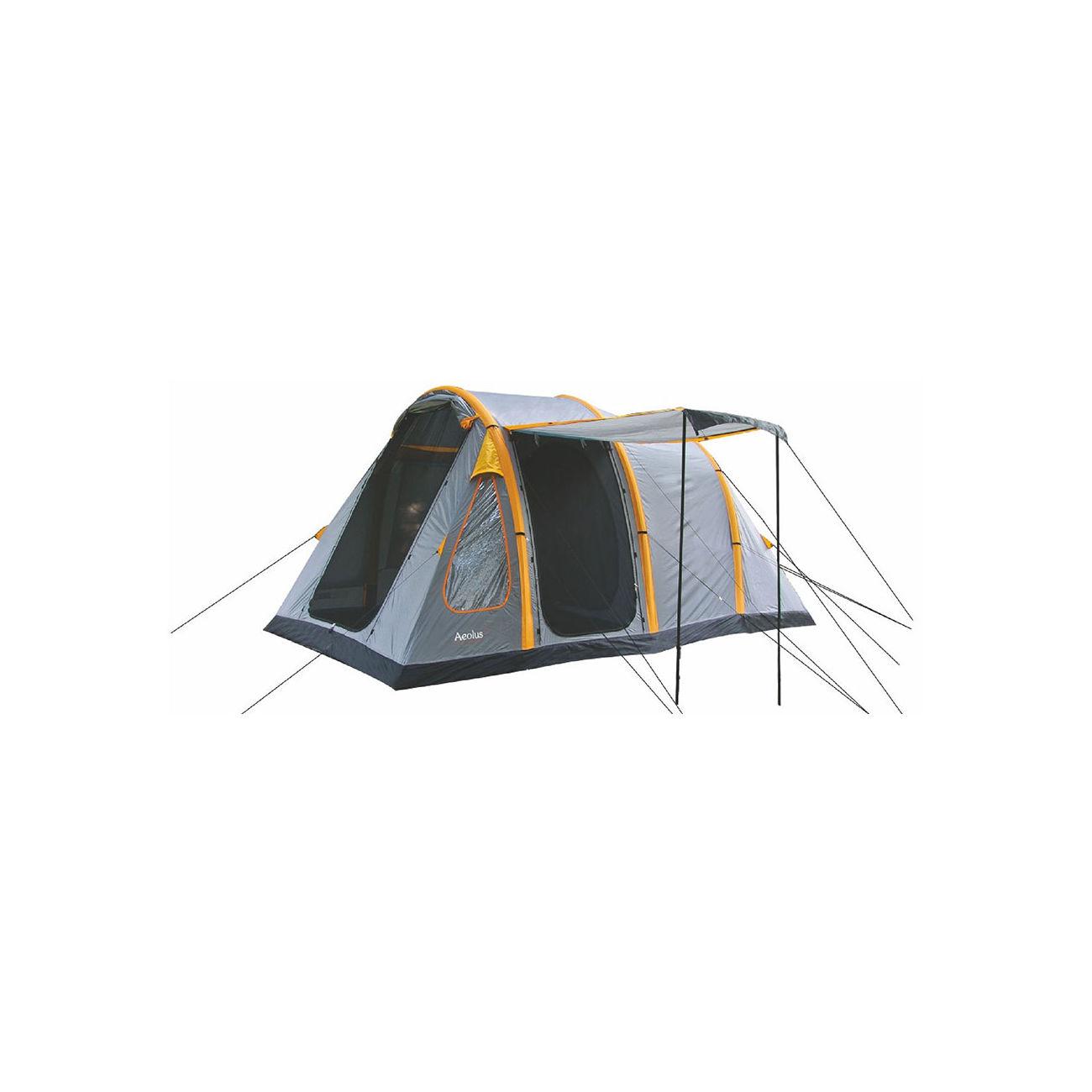 highlander aufblasbares zelt 4 mann aeolus 4 grau orange kotte zeller. Black Bedroom Furniture Sets. Home Design Ideas