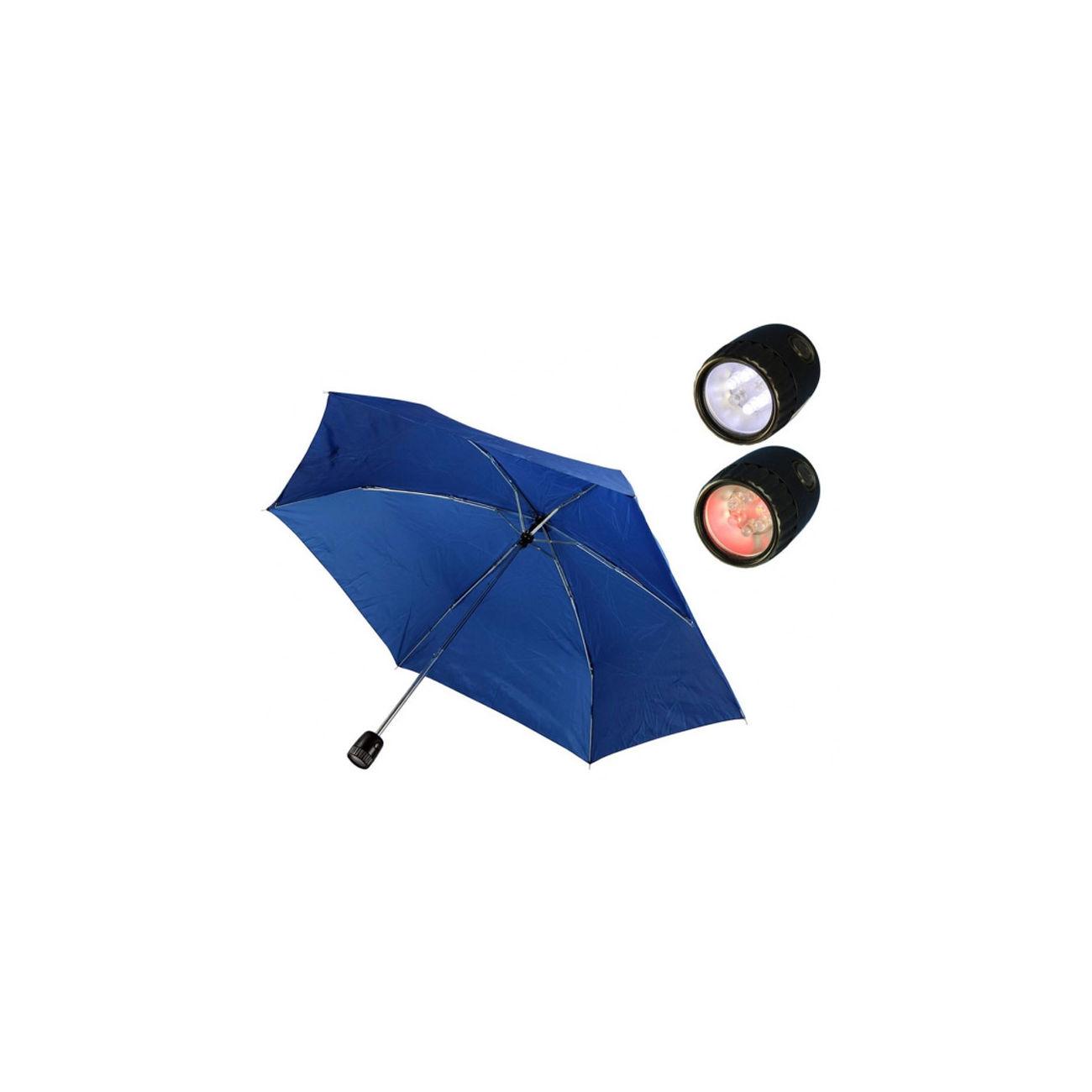 regenschirm mit led lampe blau kotte zeller. Black Bedroom Furniture Sets. Home Design Ideas