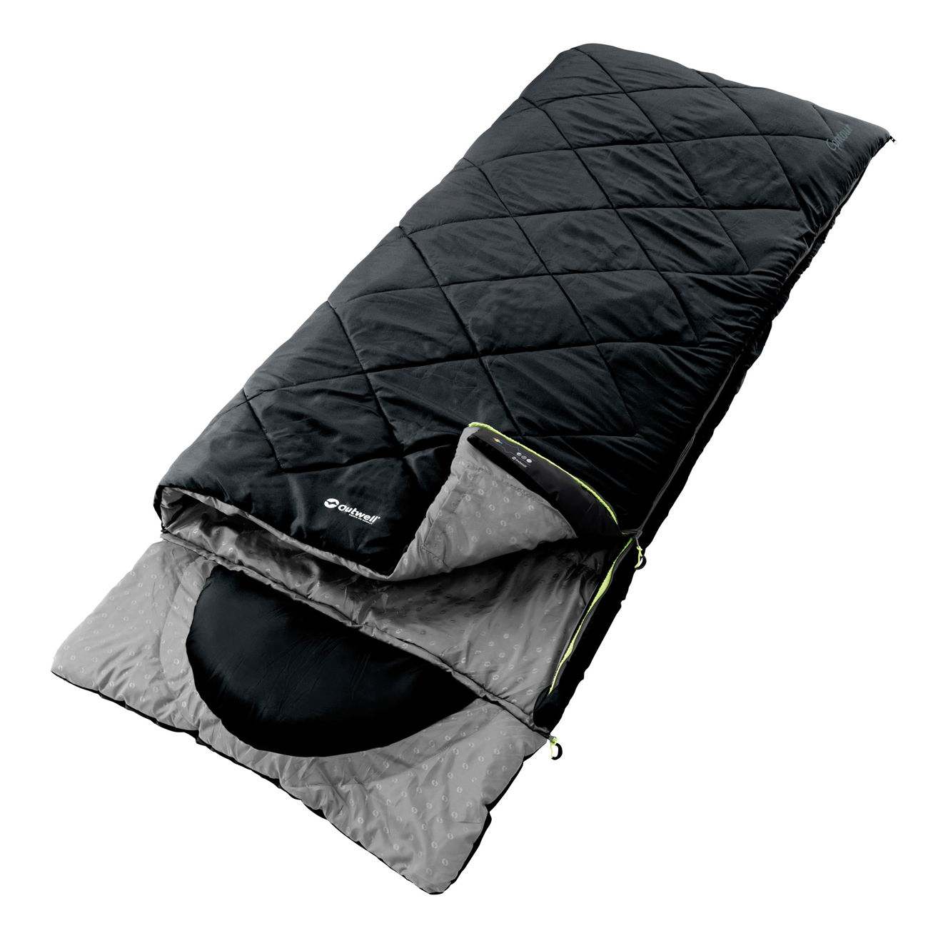 outwell contour standard schlafsack mit kissen schwarz kotte zeller. Black Bedroom Furniture Sets. Home Design Ideas