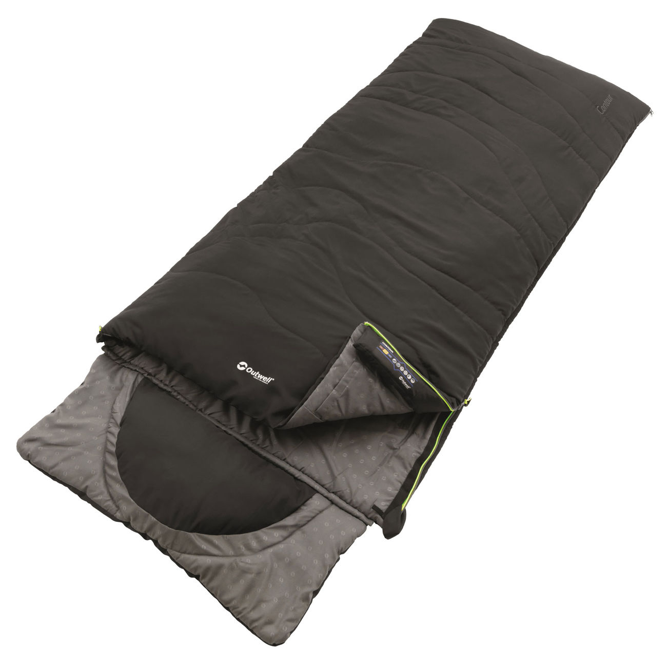 outwell deckenschlafsack contour standard mit kissen schwarz g nstig kaufen kotte zeller. Black Bedroom Furniture Sets. Home Design Ideas