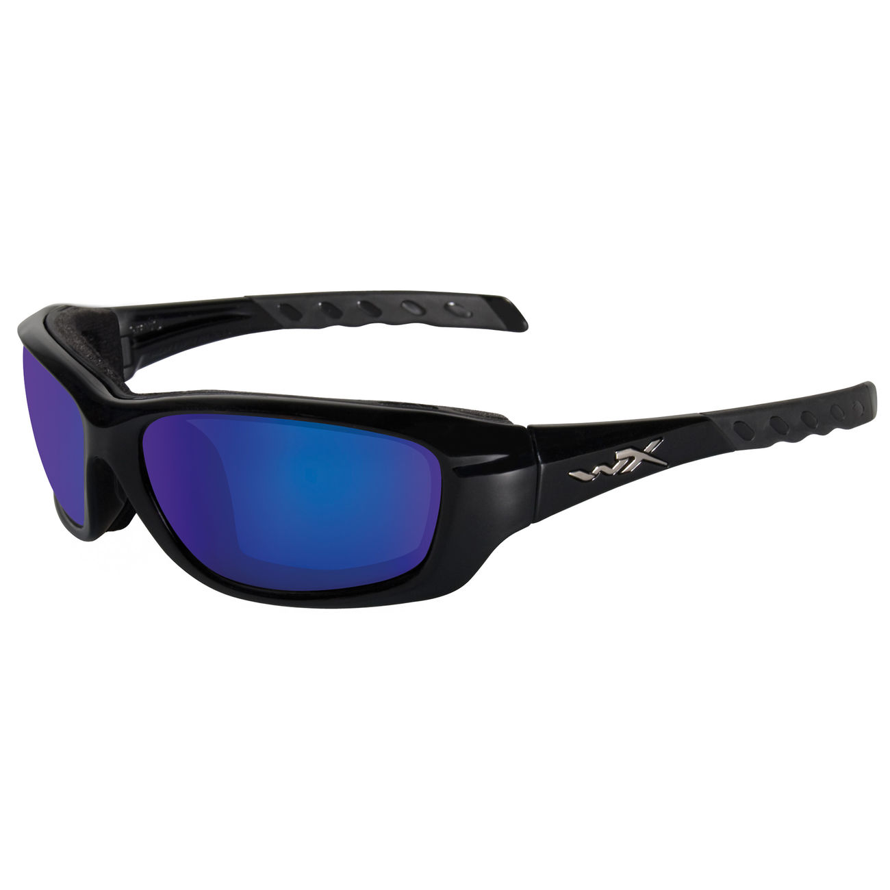 Wiley X Brille Gravity Crystal Black/Polarized Blue Mirror 0