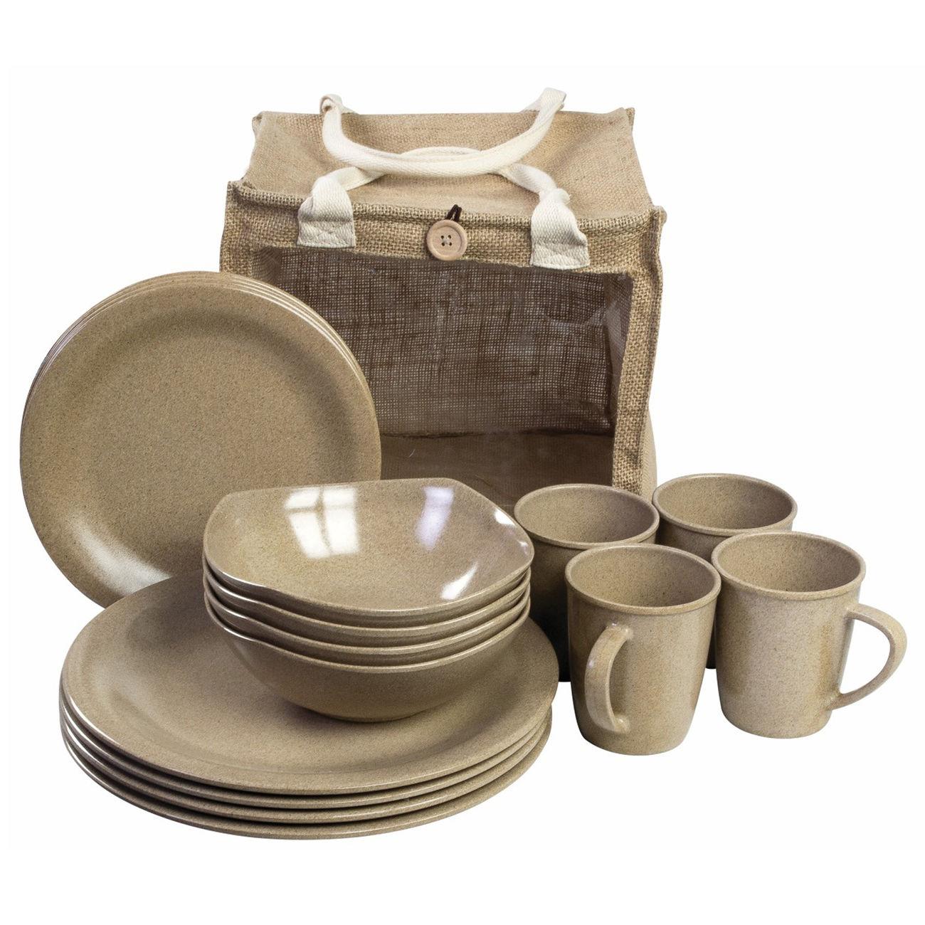 highlander picknick set 16 teilig natural beige g nstig kaufen kotte zeller. Black Bedroom Furniture Sets. Home Design Ideas