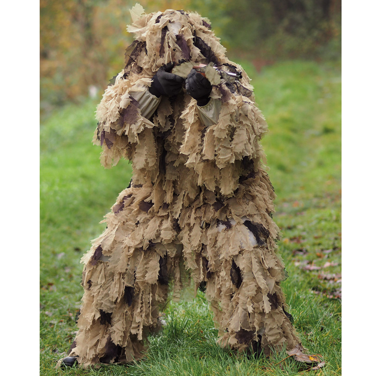 Mil-Tec Tarnanzug Ghillie Suit Oak Leaf 3D 3PC desert 0