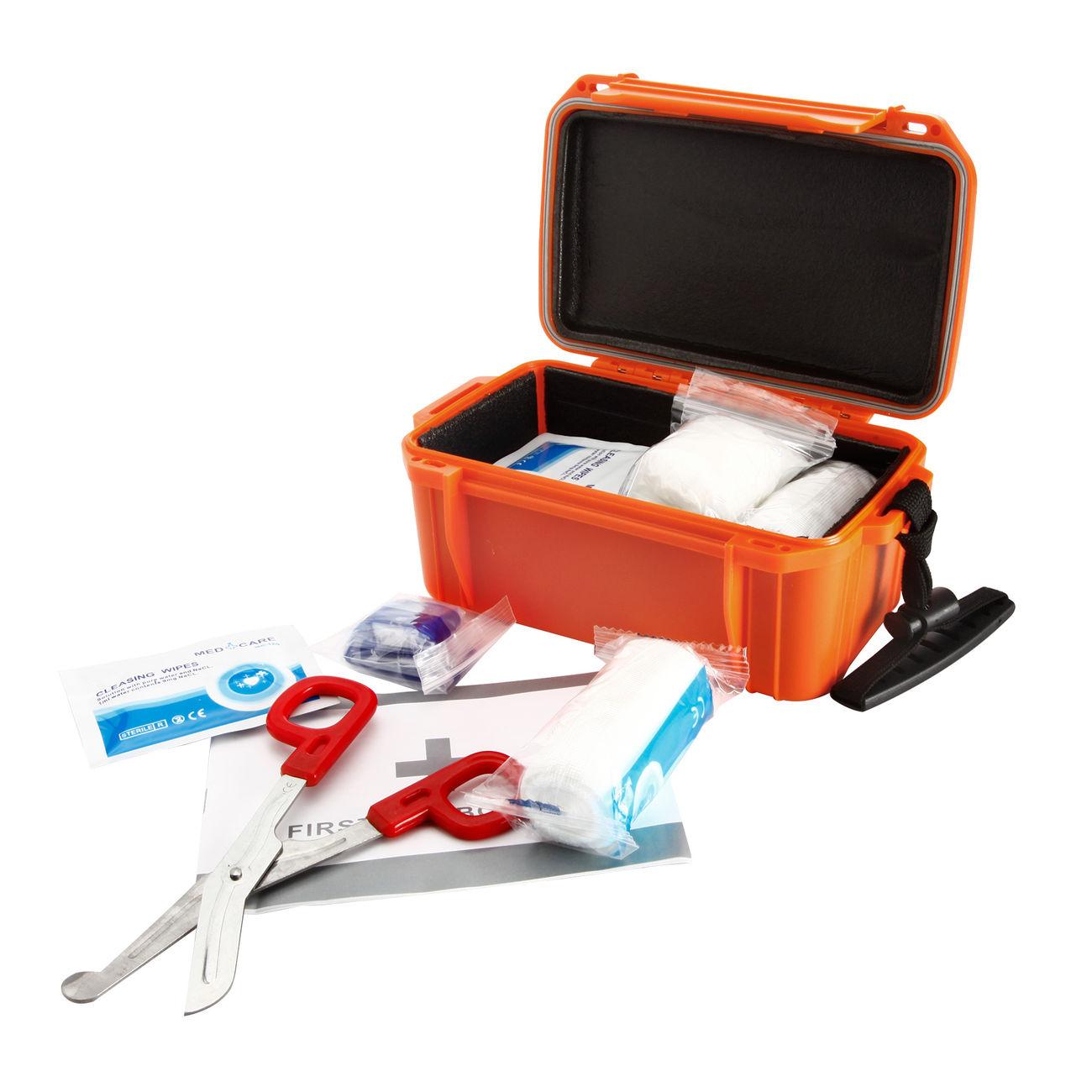 mil tec erste hilfe box camping first aid kit wasserdicht orange g nstig kaufen kotte zeller. Black Bedroom Furniture Sets. Home Design Ideas