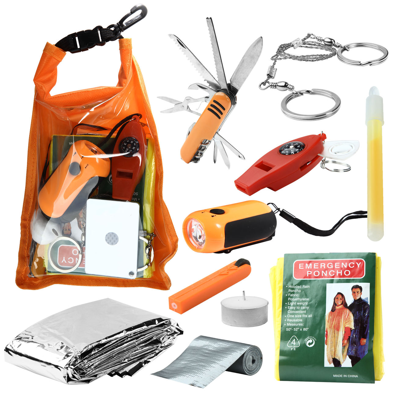 Mil-Tec Outdoor-Survival-Pack large orange 0