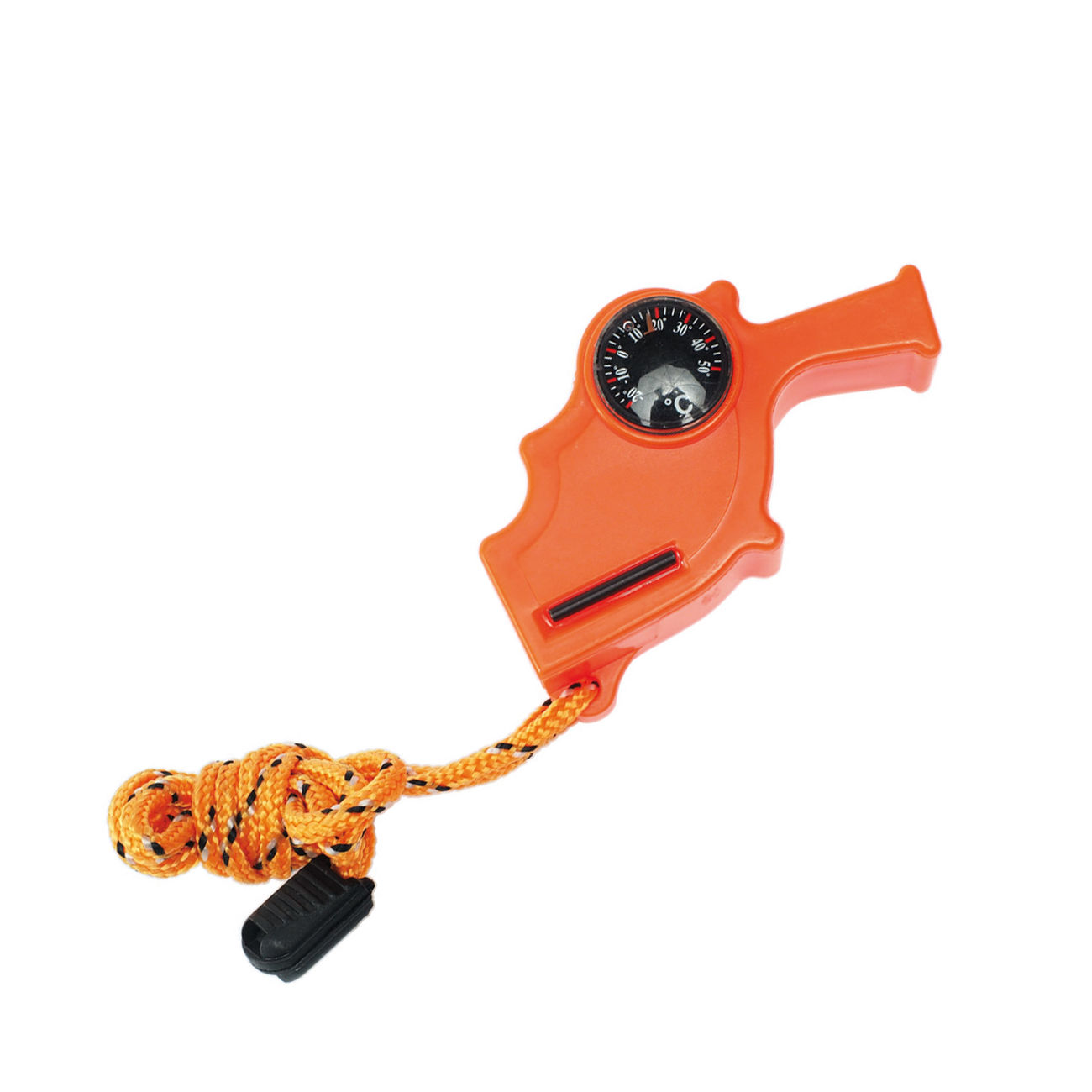 Mil-Tec Notfallpfeife Safety Whistle 4-in-1 orange 1