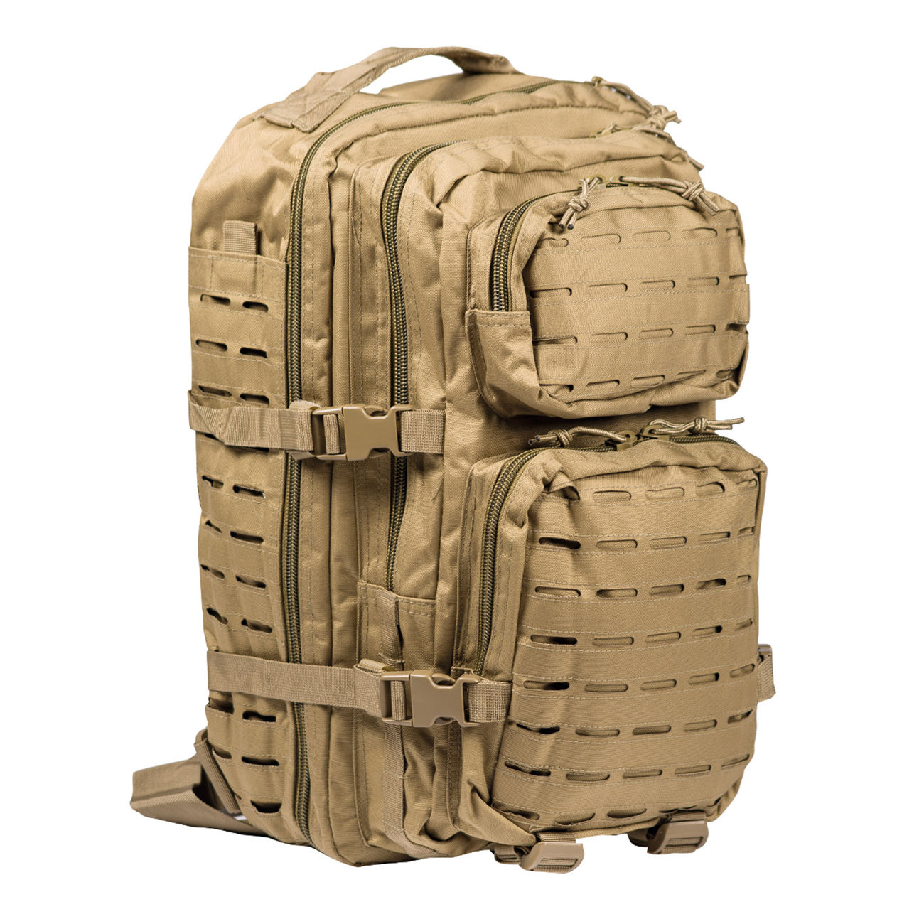 Mil-Tec Rucksack US Assault Pack Laser Cut large 36L coyote 0