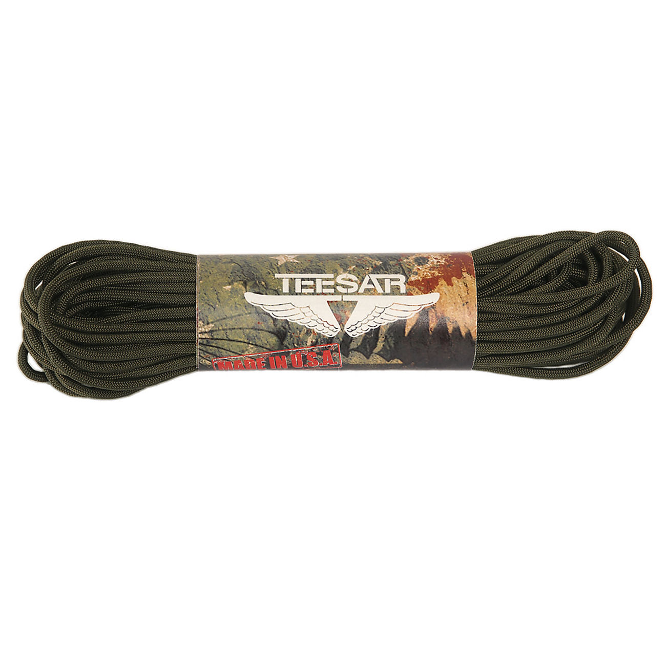 Teesar US Fallschirmleine 550 Nylon 100 ft. oliv 0