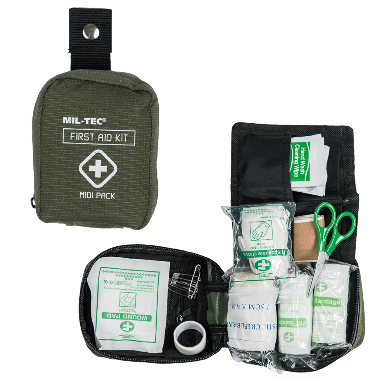 Verbandstasche Notfallset Miltec FIRST AID PACK MIDI OLIV Erste Hilfe Tasche