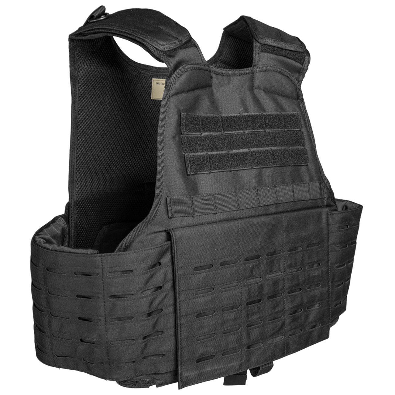 mil tec einsatzweste carrier laser cut schwarz g nstig kaufen kotte zeller. Black Bedroom Furniture Sets. Home Design Ideas