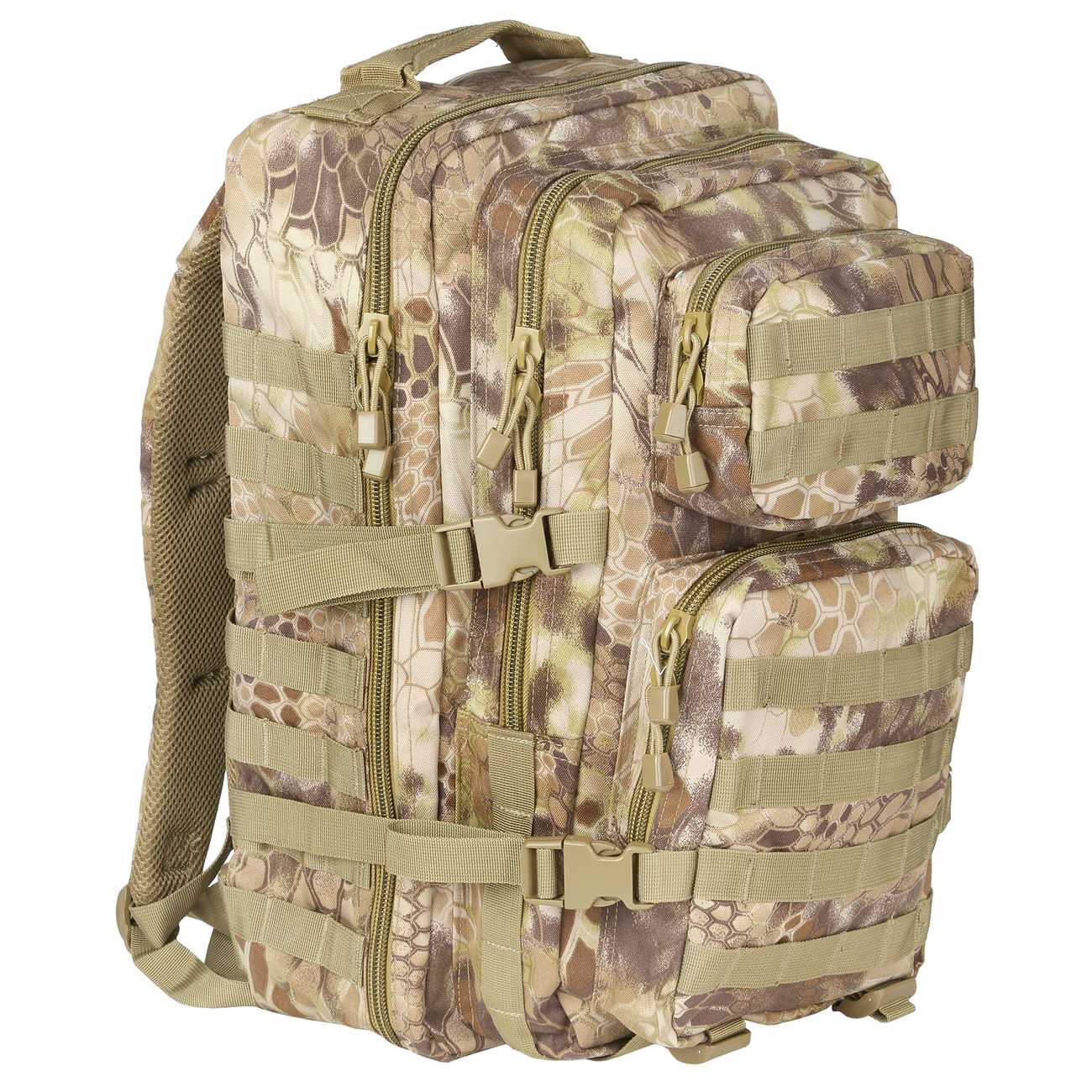 Mil-Tec Rucksack US Assault Pack II 40 Liter mandra tan 0