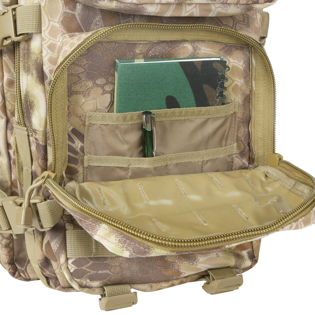Mil-Tec Rucksack US Assault Pack II 40 Liter mandra tan 10