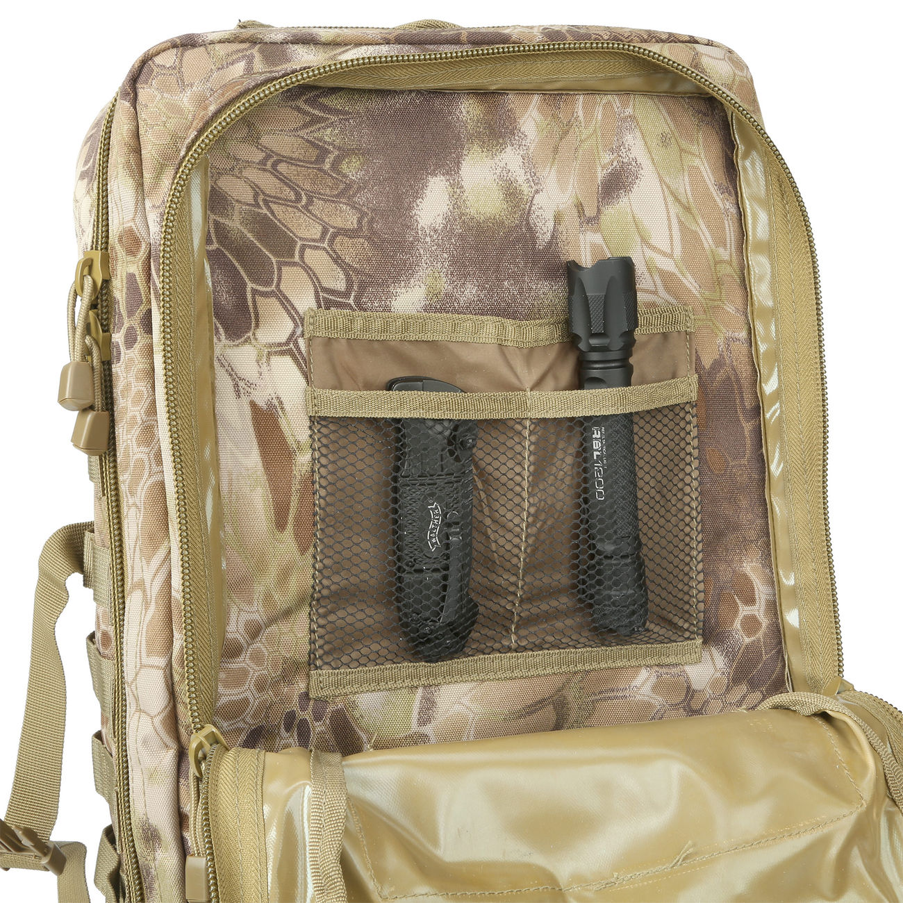Mil-Tec Rucksack US Assault Pack II 40 Liter mandra tan 8