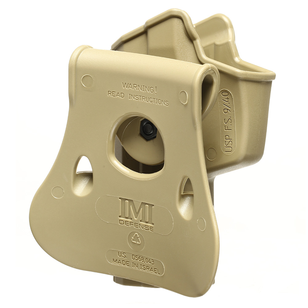 IMI Defense Level 2 Holster Kunststoff Paddle für H&K USP / P8 9mm tan 3