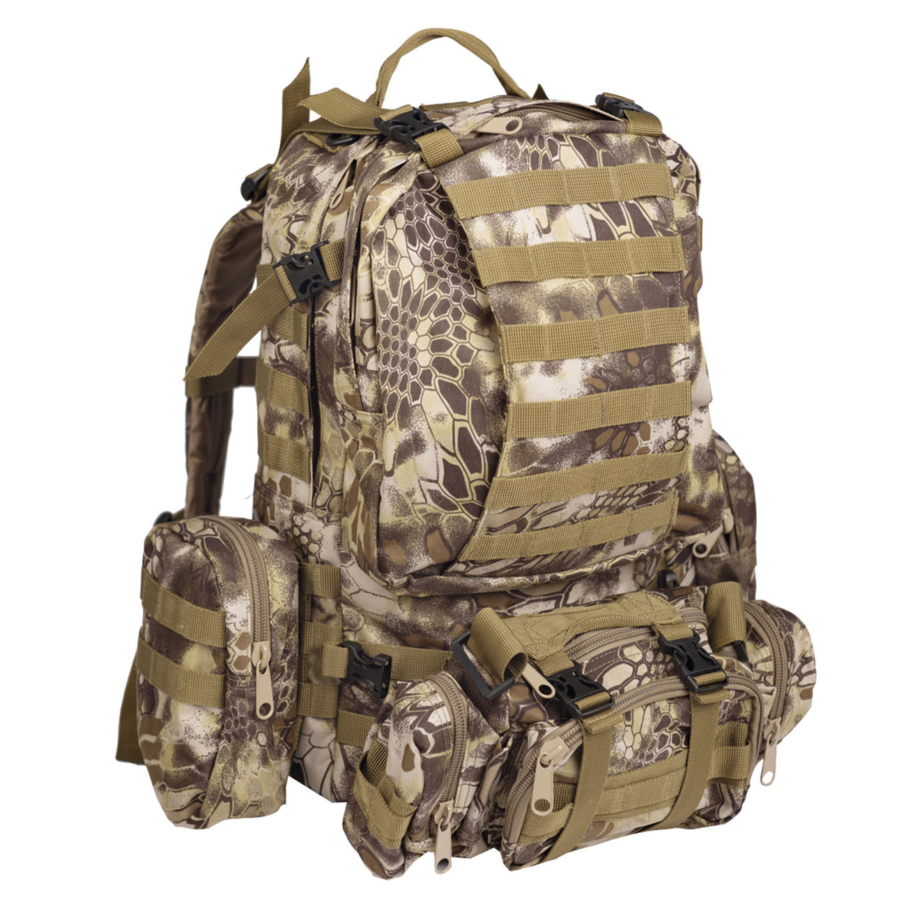 Mil-Tec Rucksack Defense Pack Assembly 36 ltr. mandra tan 0
