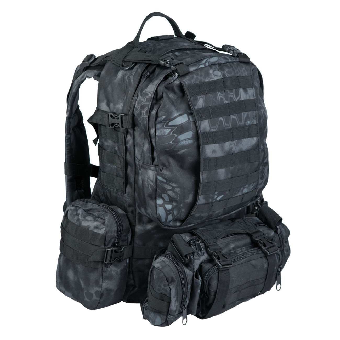 Mil-Tec Rucksack Defense Pack Assembly 36 ltr. mandra night 0