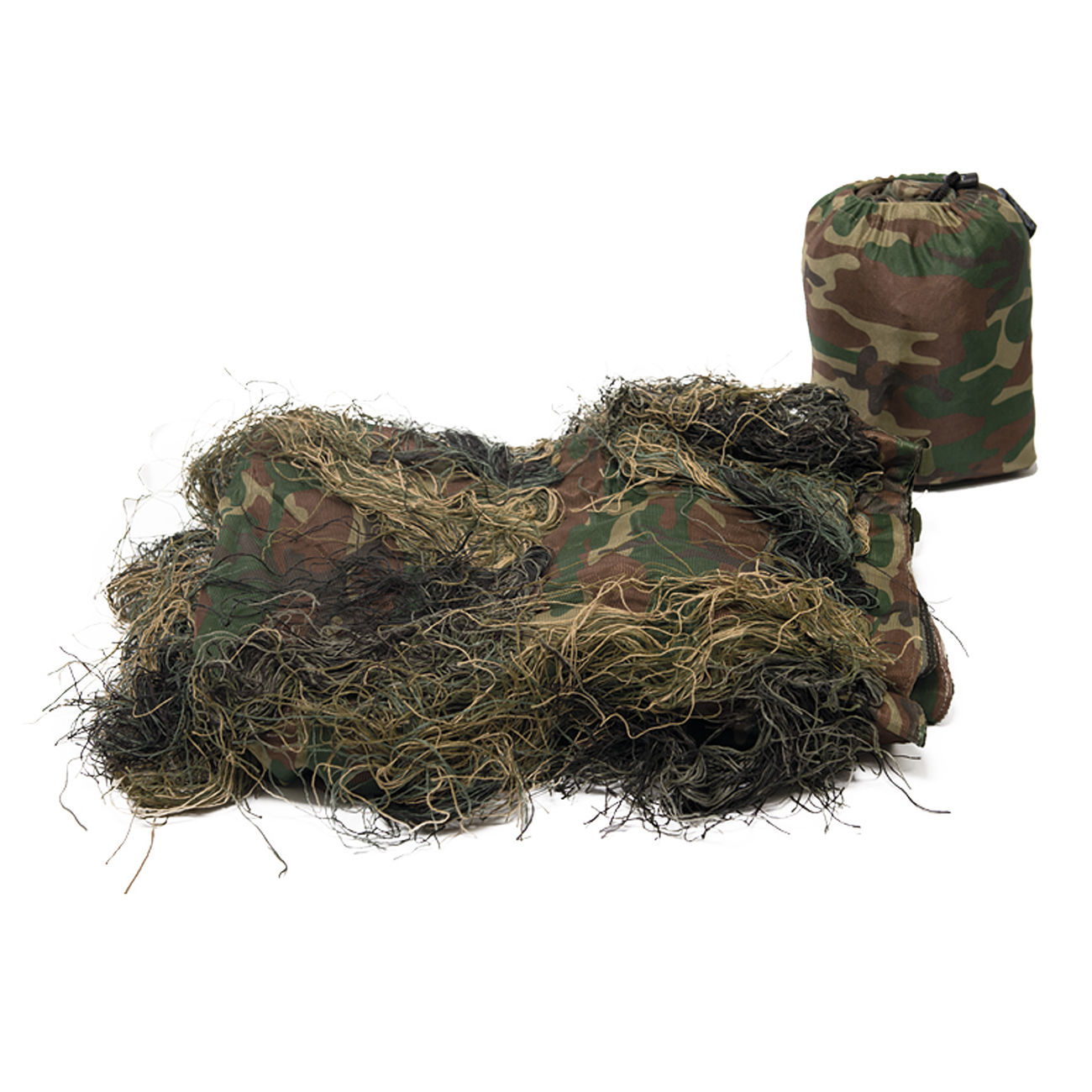 Mil-Tec Ghillie Tarncover Anti Fire 140x100 cm woodland 0