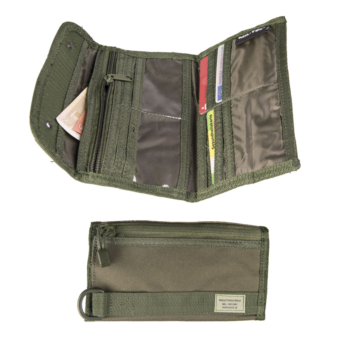 Mil-Tec Brieftasche Wallet Pouch Molle Oliv 1