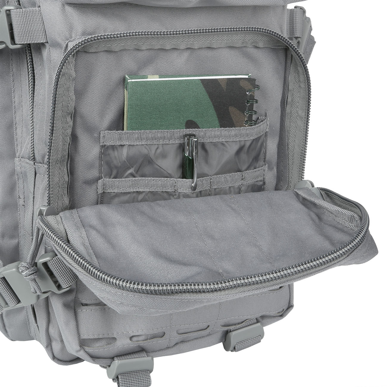 Mil-Tec Rucksack US Assault Pack Laser Cut large 36L Urban grey 10