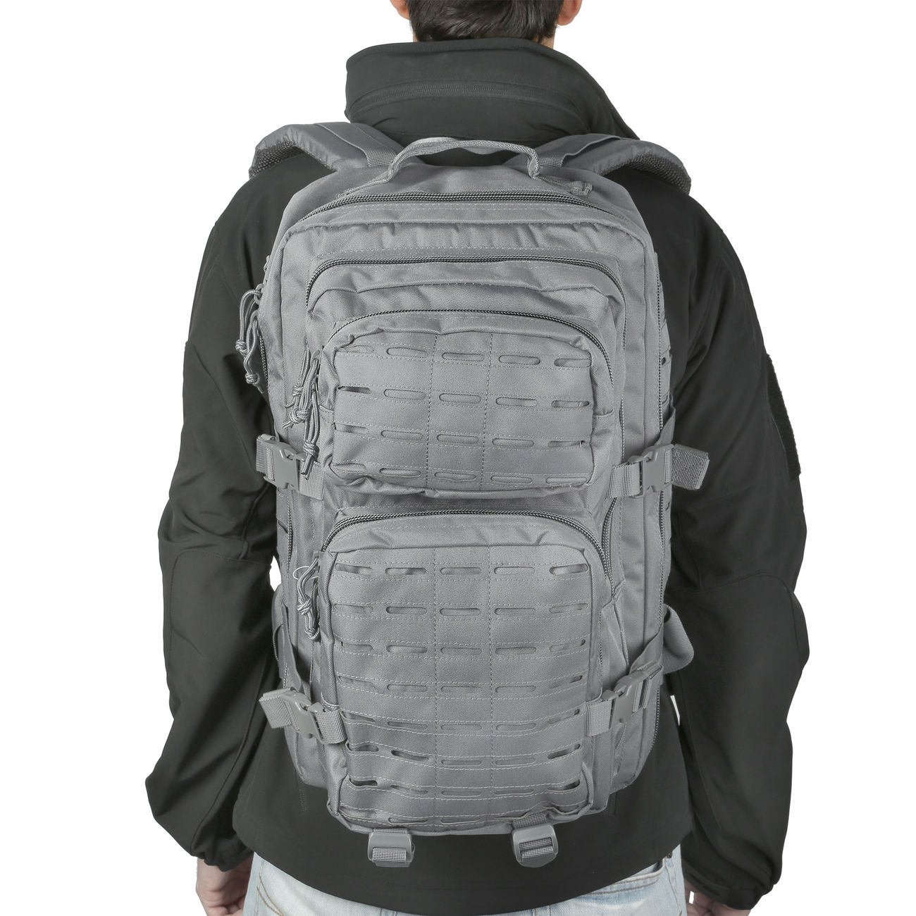 Mil-Tec Rucksack US Assault Pack Laser Cut large 36L Urban grey 4