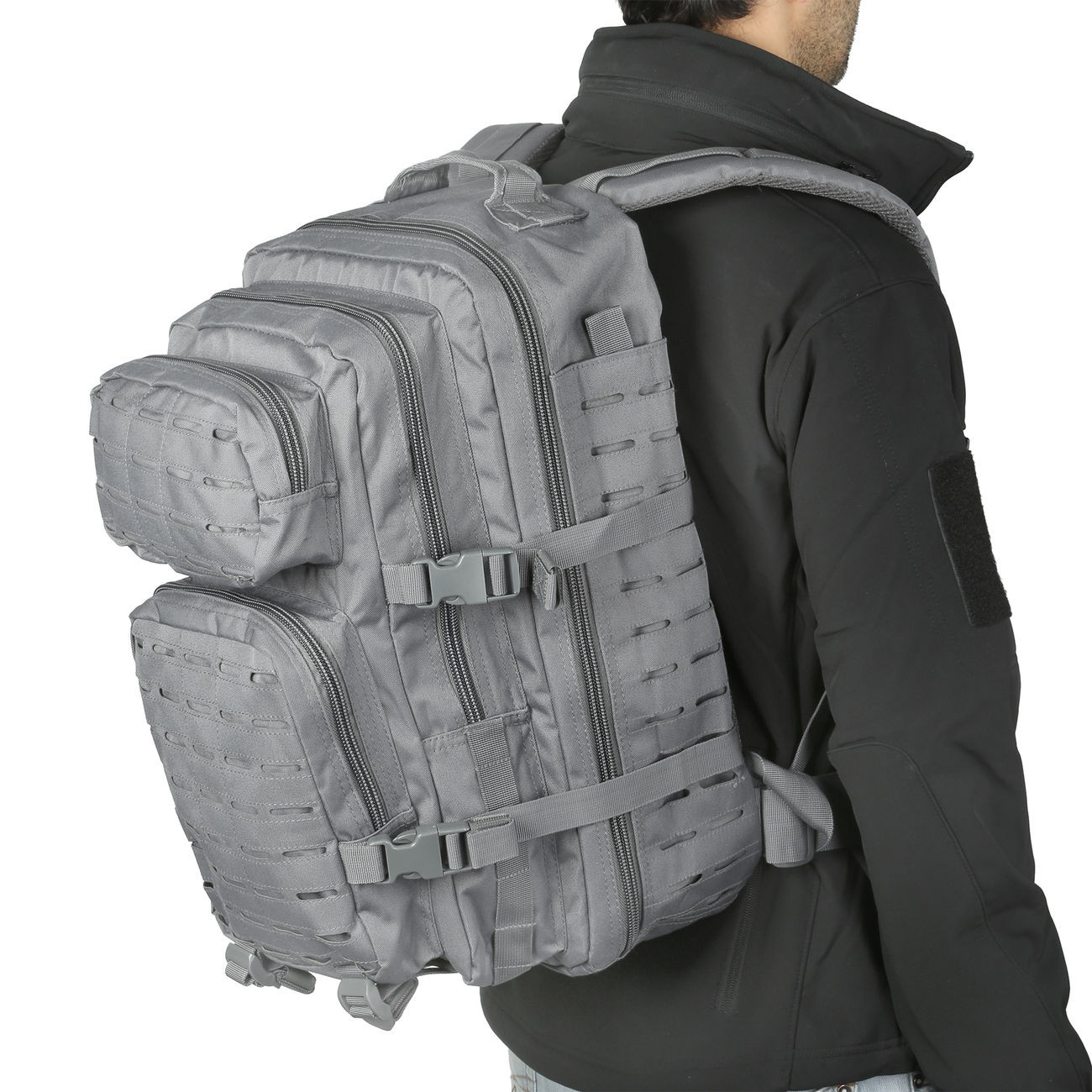 Mil-Tec Rucksack US Assault Pack Laser Cut large 36L Urban grey 5