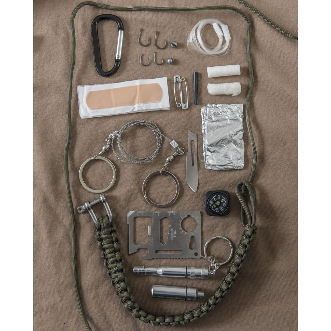 Mil-Tec Paracord Survival Kit large schwarz 1